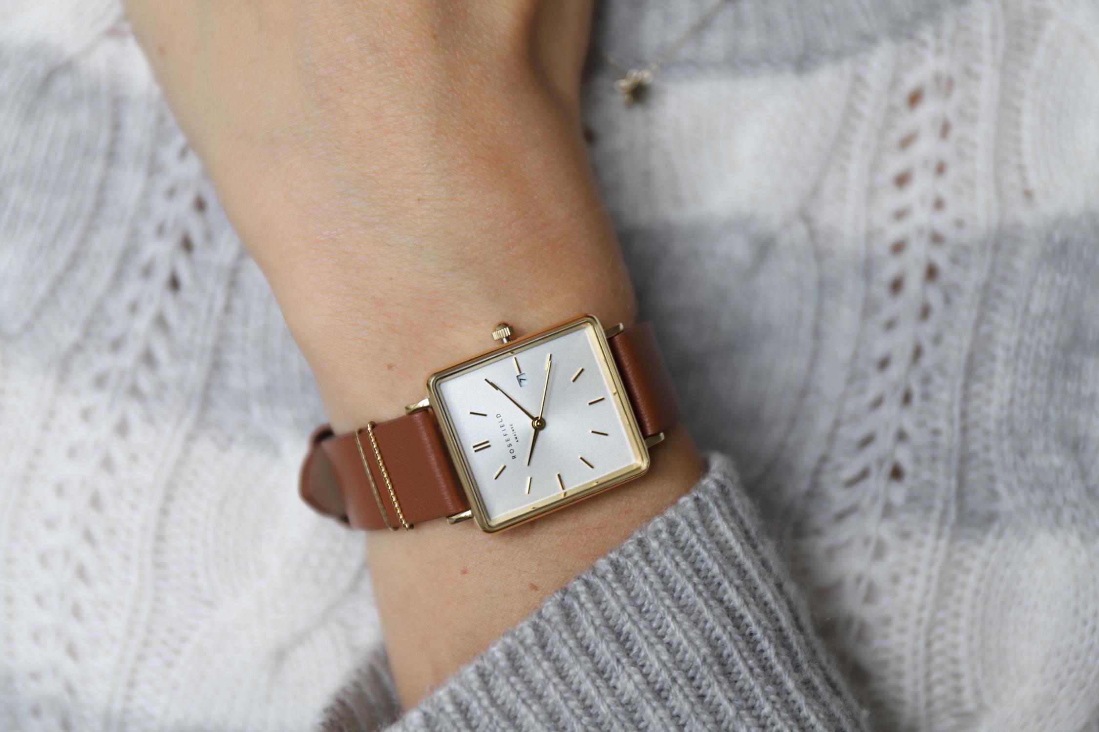 Rosefield QSCG-Q029 Boxy Boxy zegarek damski fashion/modowy mineralne