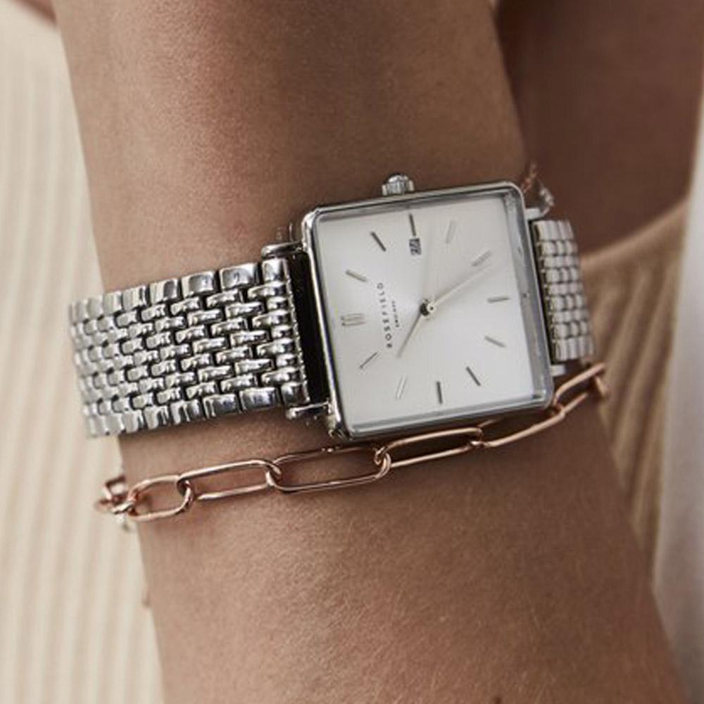 Rosefield QWSS-Q08 damski zegarek Boxy bransoleta