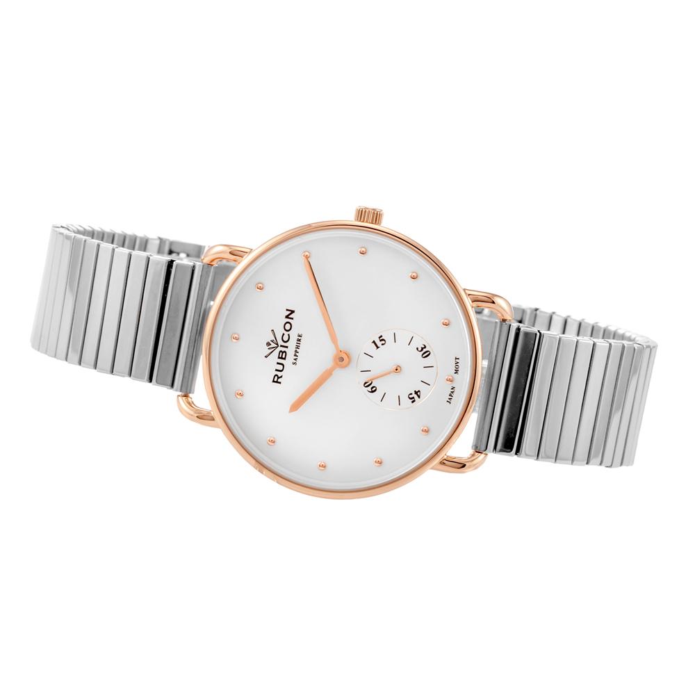 Rubicon RNBE29RISX03BX zegarek różowe złoto klasyczny Bransoleta bransoleta