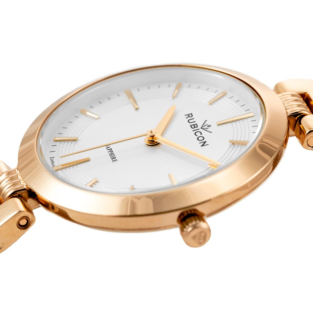 Rubicon RNBE30RISX03BX zegarek różowe złoto klasyczny Bransoleta bransoleta