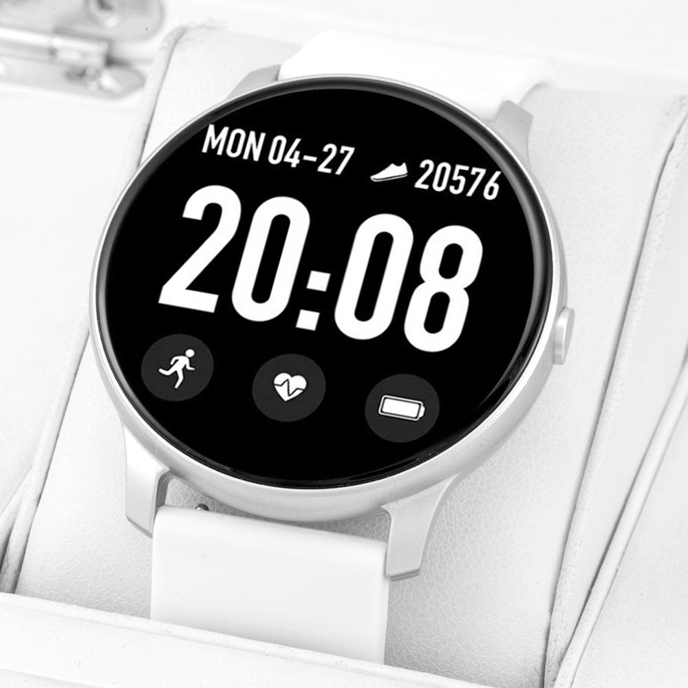 Rubicon RNCE40SIBX01AX zegarek srebrny sportowy Smartwatch pasek