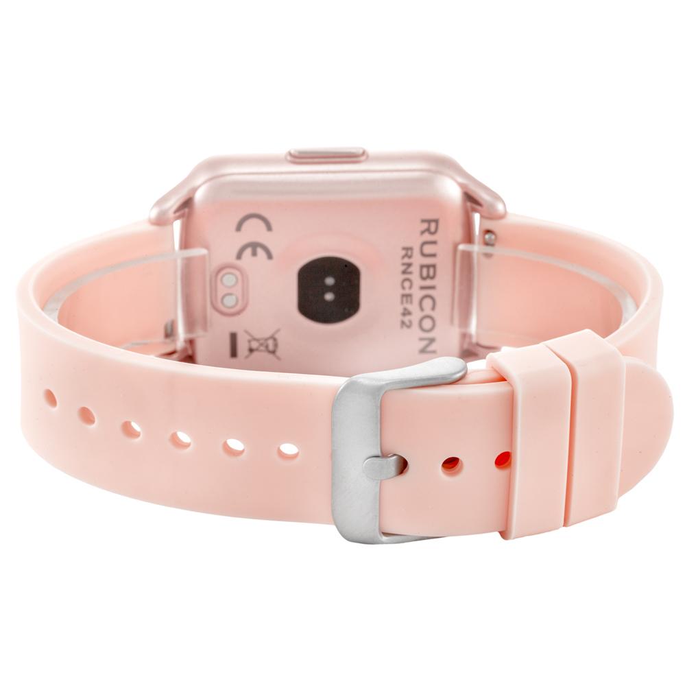 Rubicon RNCE42RIBX01AX zegarek różowy sportowy Smartwatch pasek