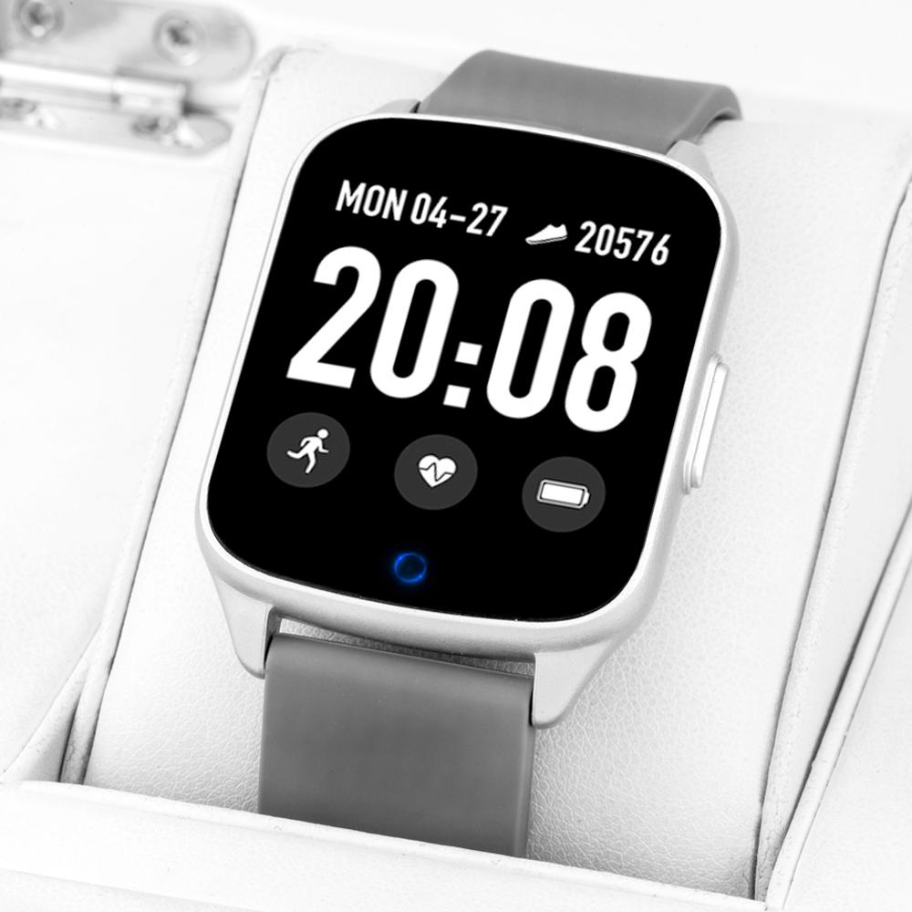 Zegarek Rubicon Smartwatch Rubicon RNCE42 srebrny - damski