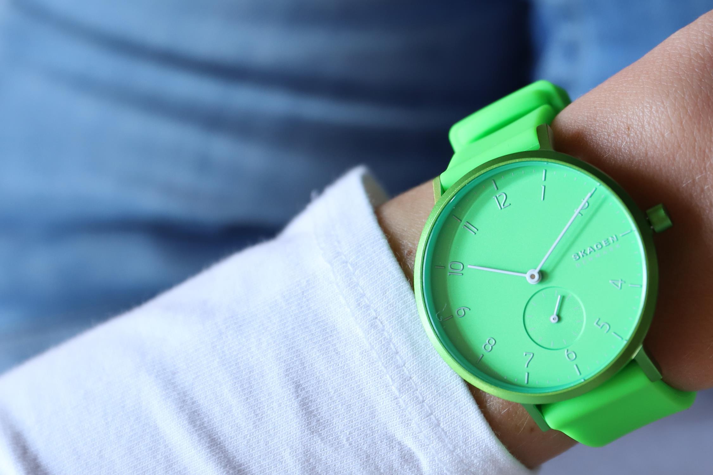 Skagen SKW2819 Aaren Kulor Neon Green Silicone zegarek klasyczny Aaren