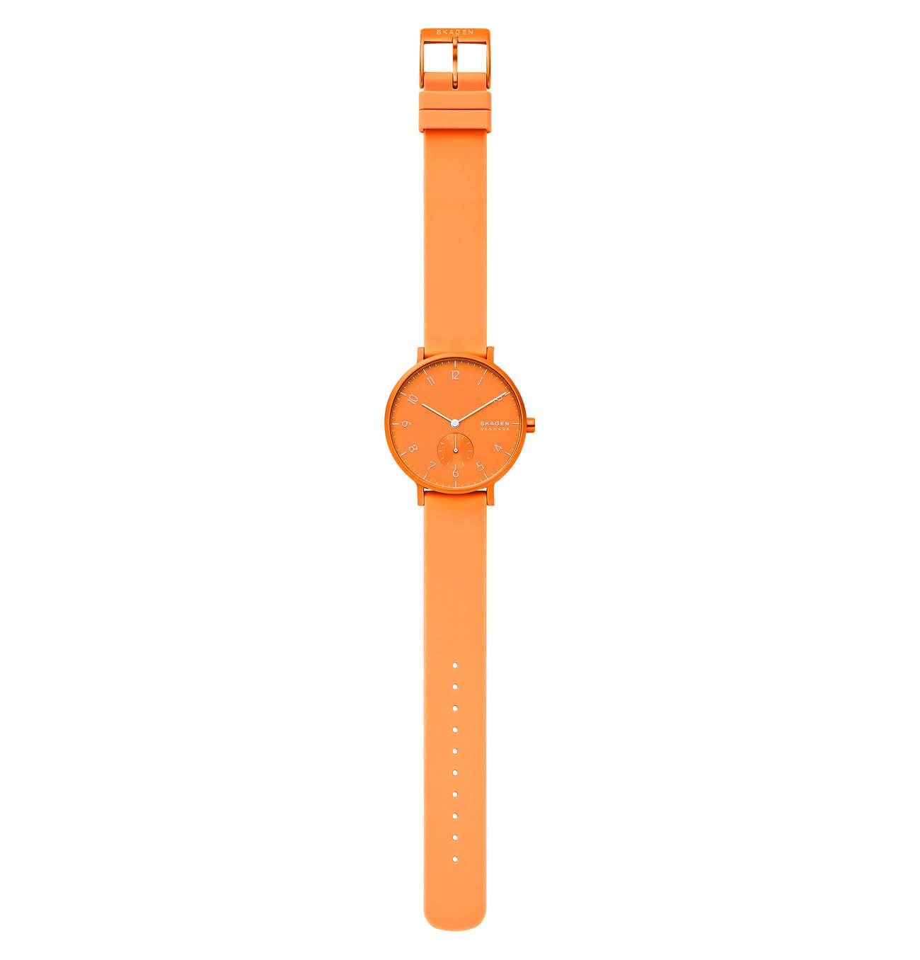 zegarek Skagen SKW2821 pomarańczowy Aaren