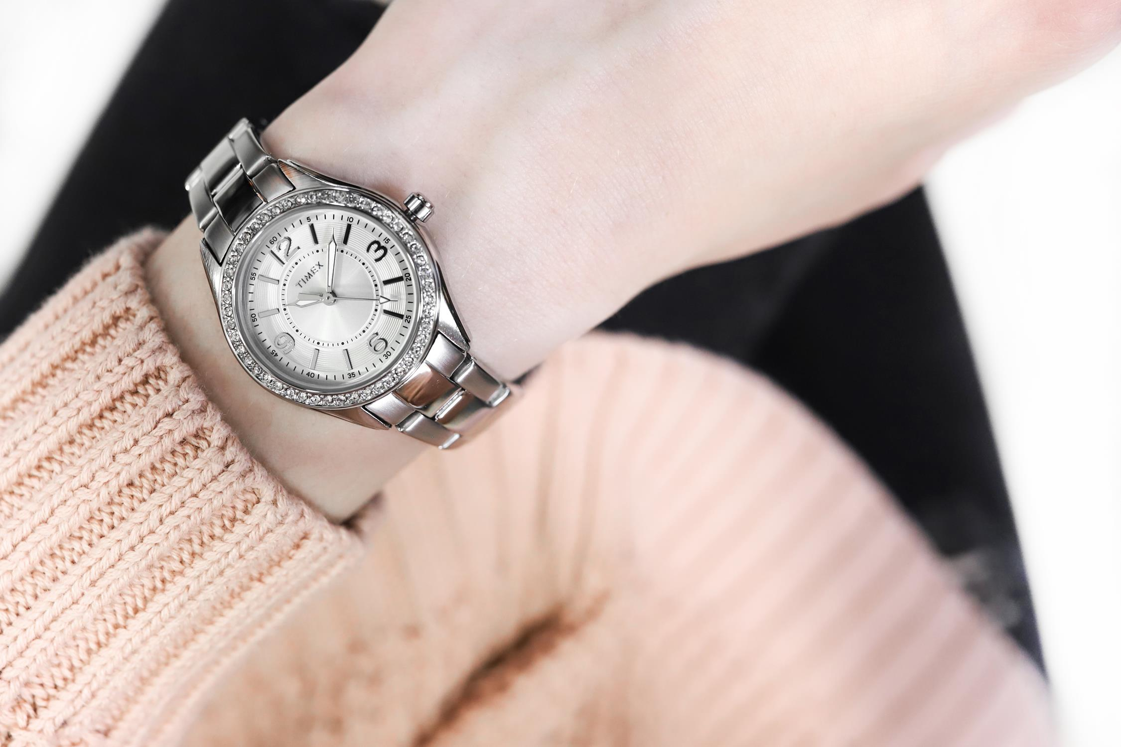 Timex TW2P79800 zegarek srebrny fashion/modowy Fashion bransoleta