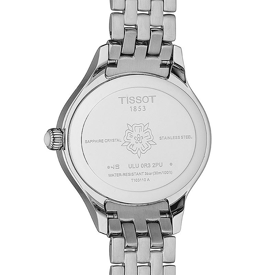 Tissot T103.110.11.033.00 zegarek srebrny elegancki Bella Ora bransoleta