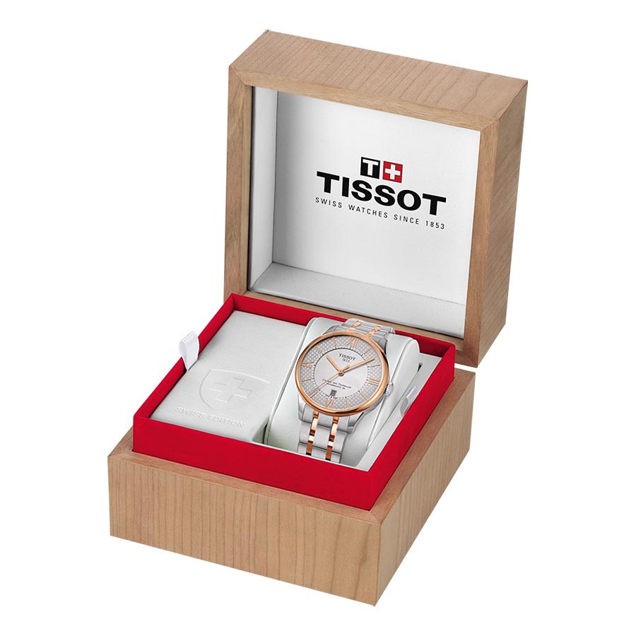 Tissot T099.207.22.118.01 CHEMIN DES TOURELLES POWERMATIC 80 HELVETIC PRIDE LADY zegarek elegancki Chemin des Tourelles