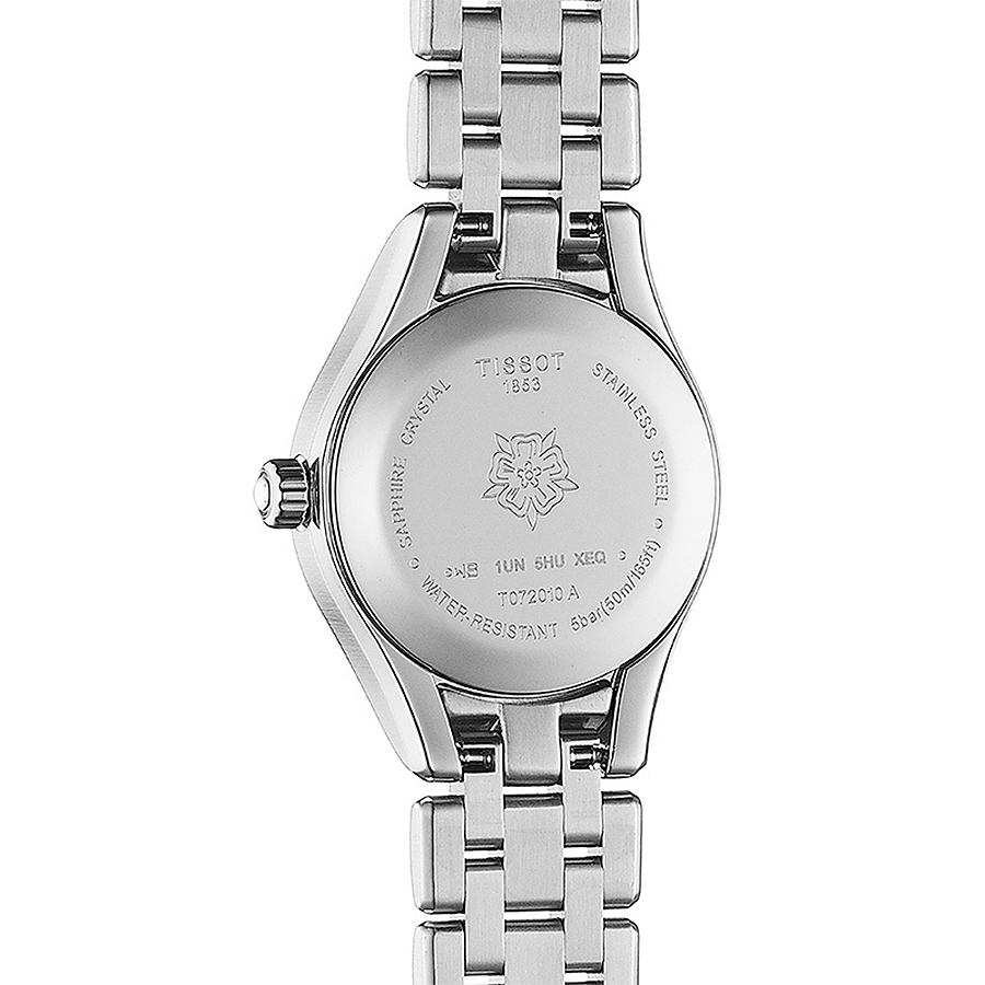 Tissot T072.010.11.118.00 zegarek srebrny elegancki Lady bransoleta