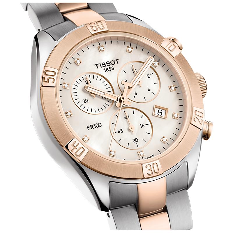 zegarek Tissot T101.917.22.116.00 PR 100 SPORT CHIC CHRONOGRAPH damski z chronograf PR 100