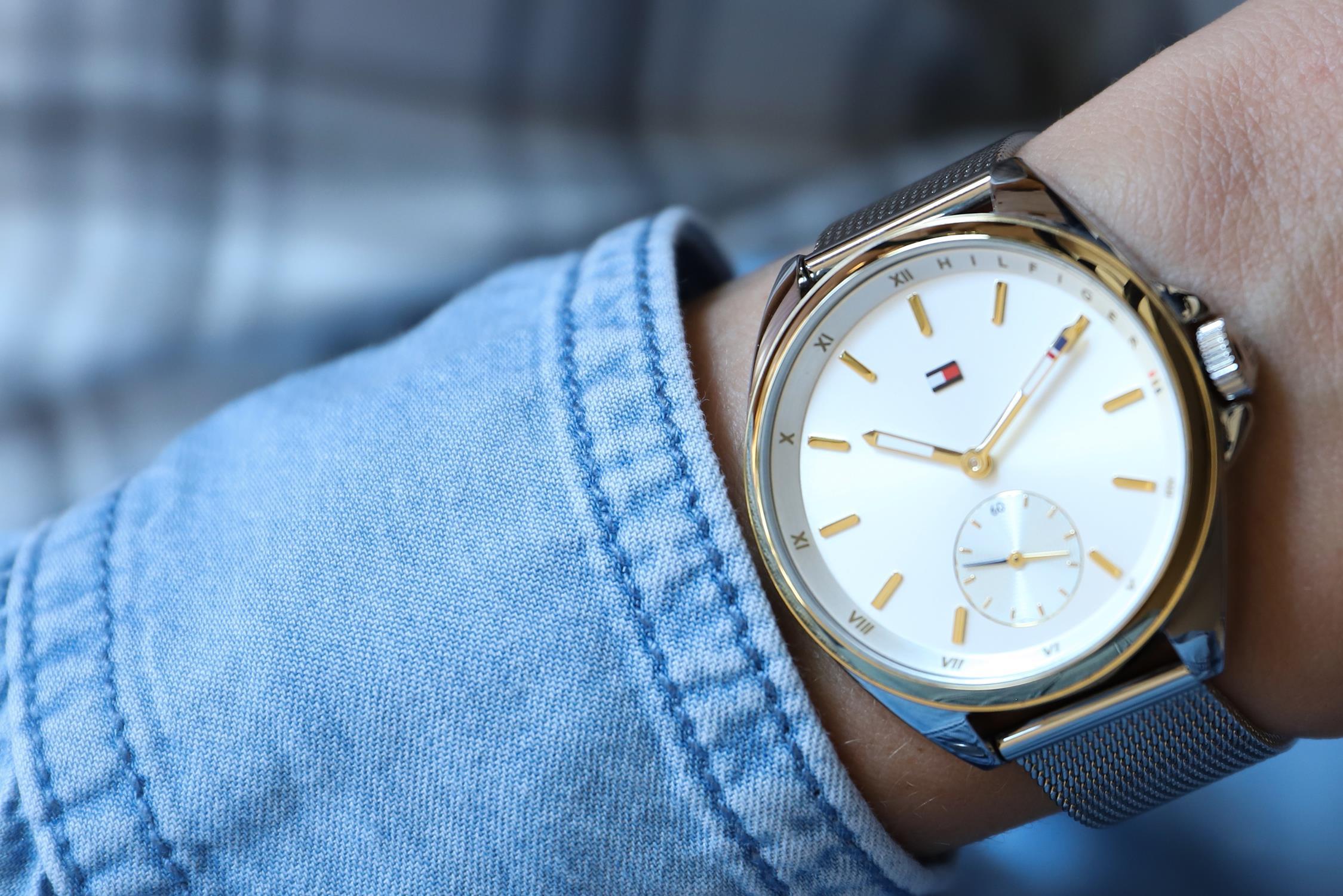 Tommy Hilfiger 1781759 zegarek srebrny fashion/modowy Damskie bransoleta