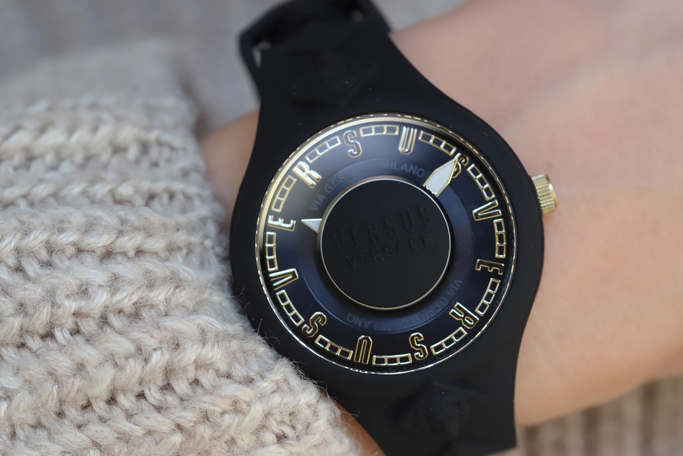 Versus Versace VSP1R0319 zegarek czarny fashion/modowy Damskie pasek