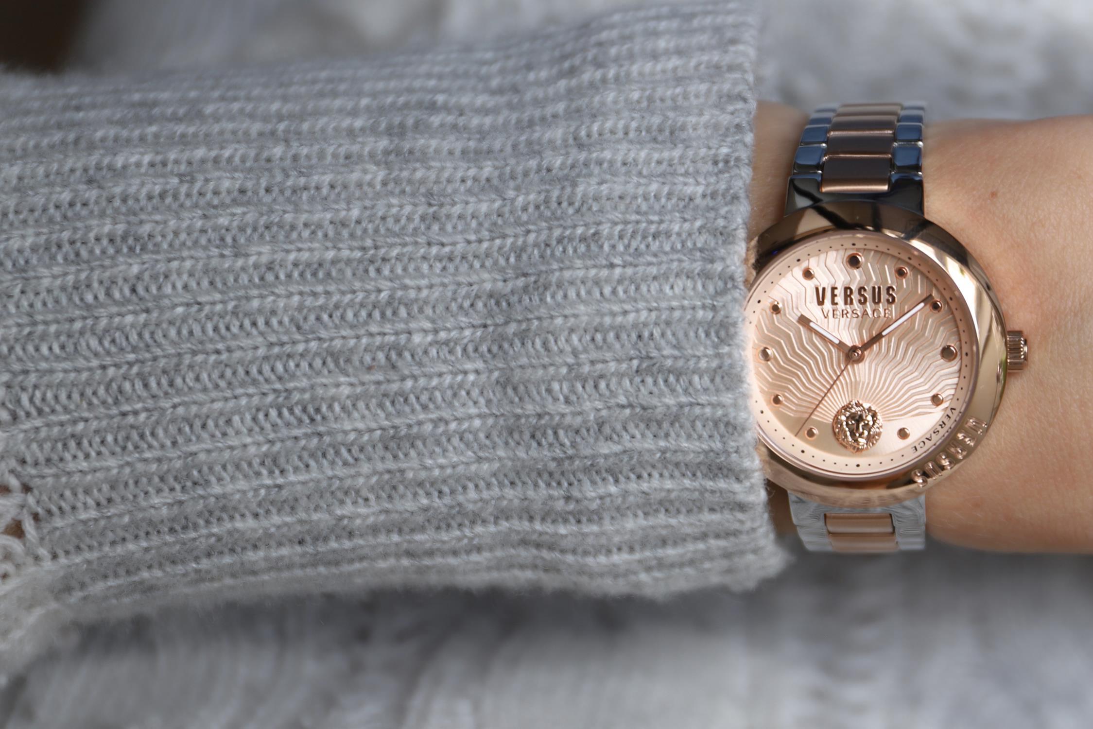 Versus Versace VSP370617 zegarek różowe złoto fashion/modowy Damskie bransoleta