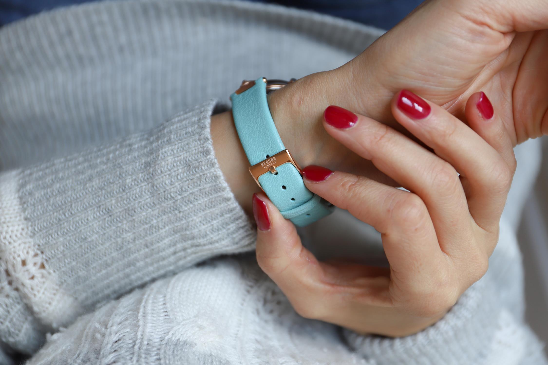 zegarek Versus Versace VSP490418 różowe złoto Damskie