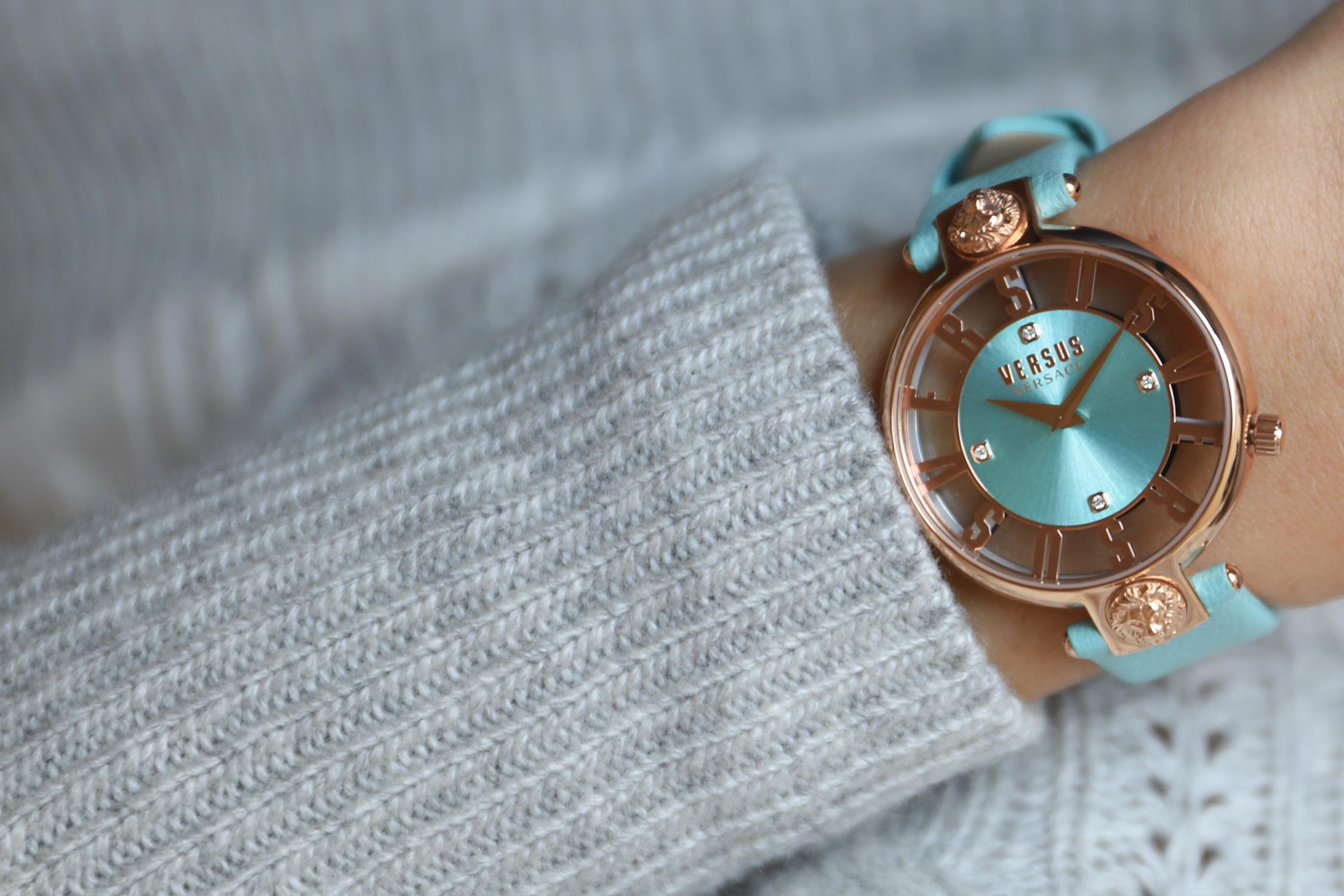 Versus Versace VSP490418 zegarek różowe złoto fashion/modowy Damskie pasek