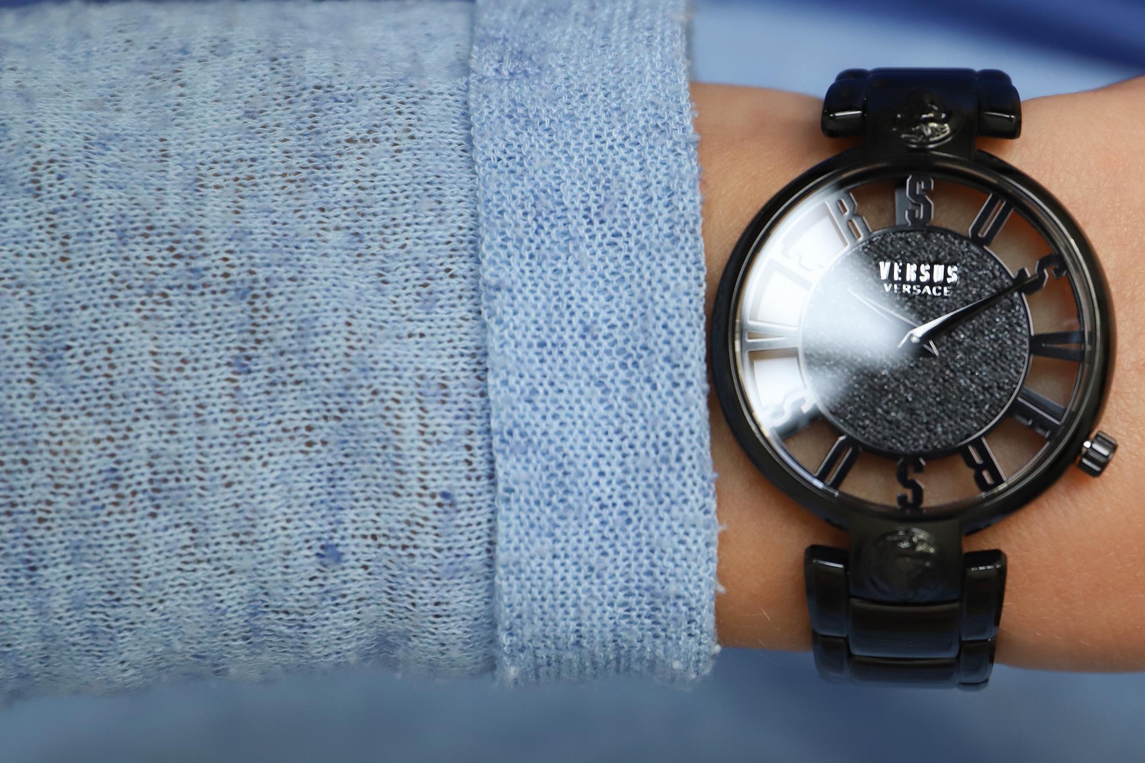 Versus Versace VSP491619 zegarek czarny fashion/modowy Damskie bransoleta