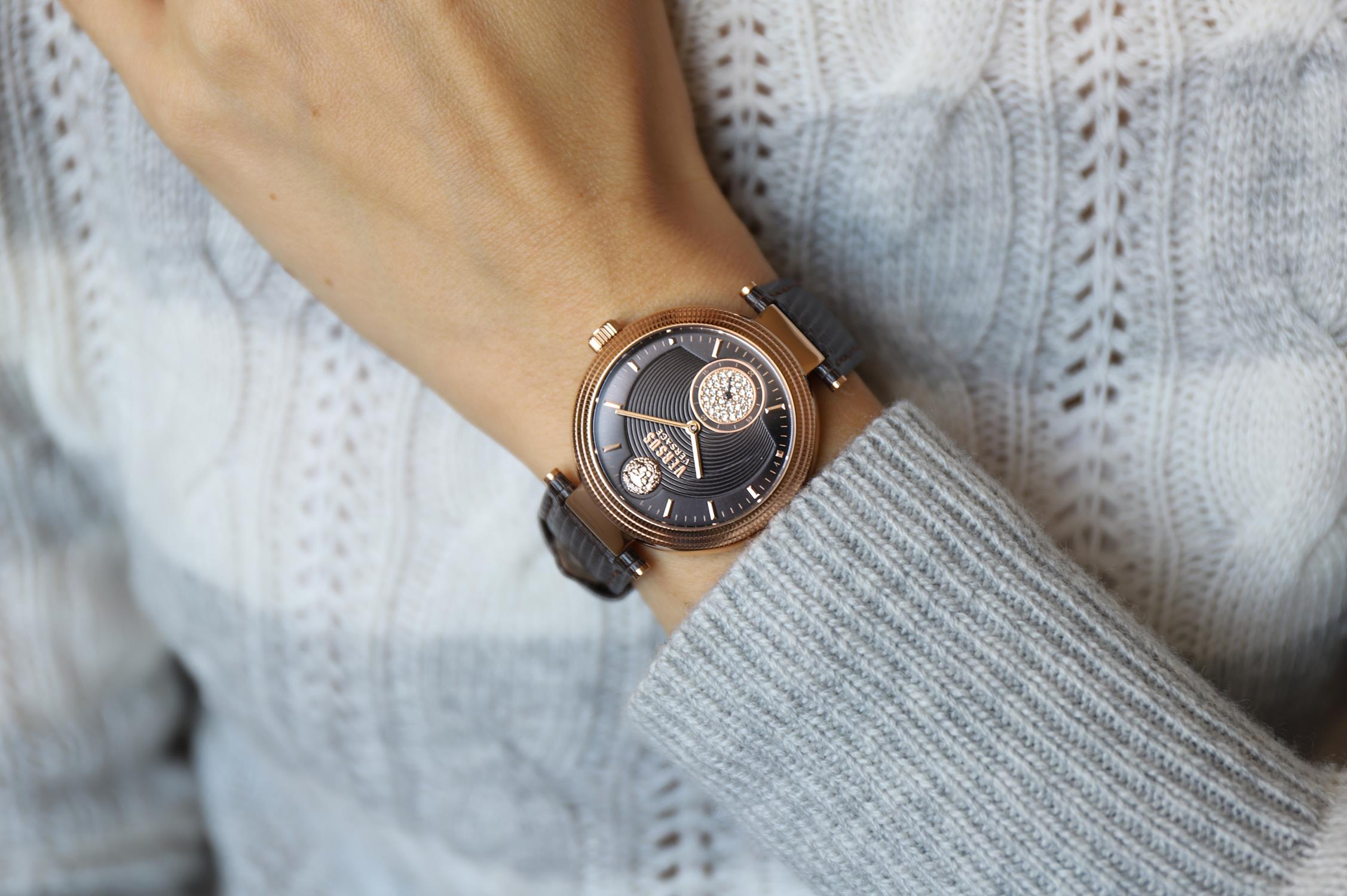 Versus Versace VSP791318 zegarek różowe złoto fashion/modowy Damskie pasek