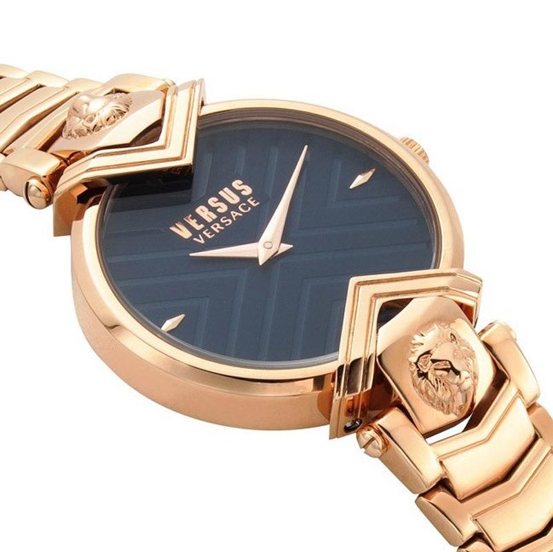 Versus Versace VSPLH0819 zegarek różowe złoto klasyczny Damskie bransoleta