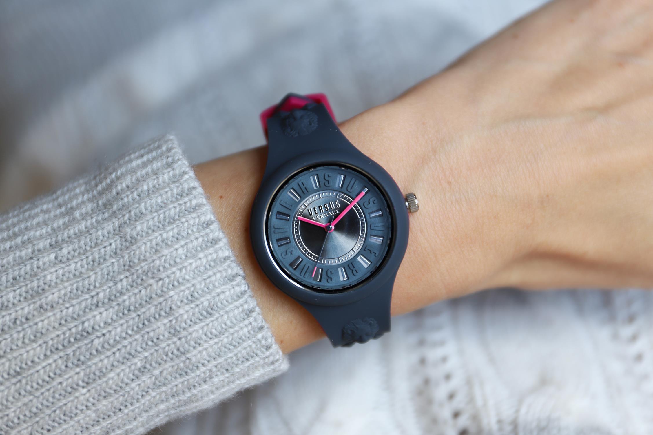 Versus Versace VSPOQ2218 zegarek szary fashion/modowy Damskie pasek