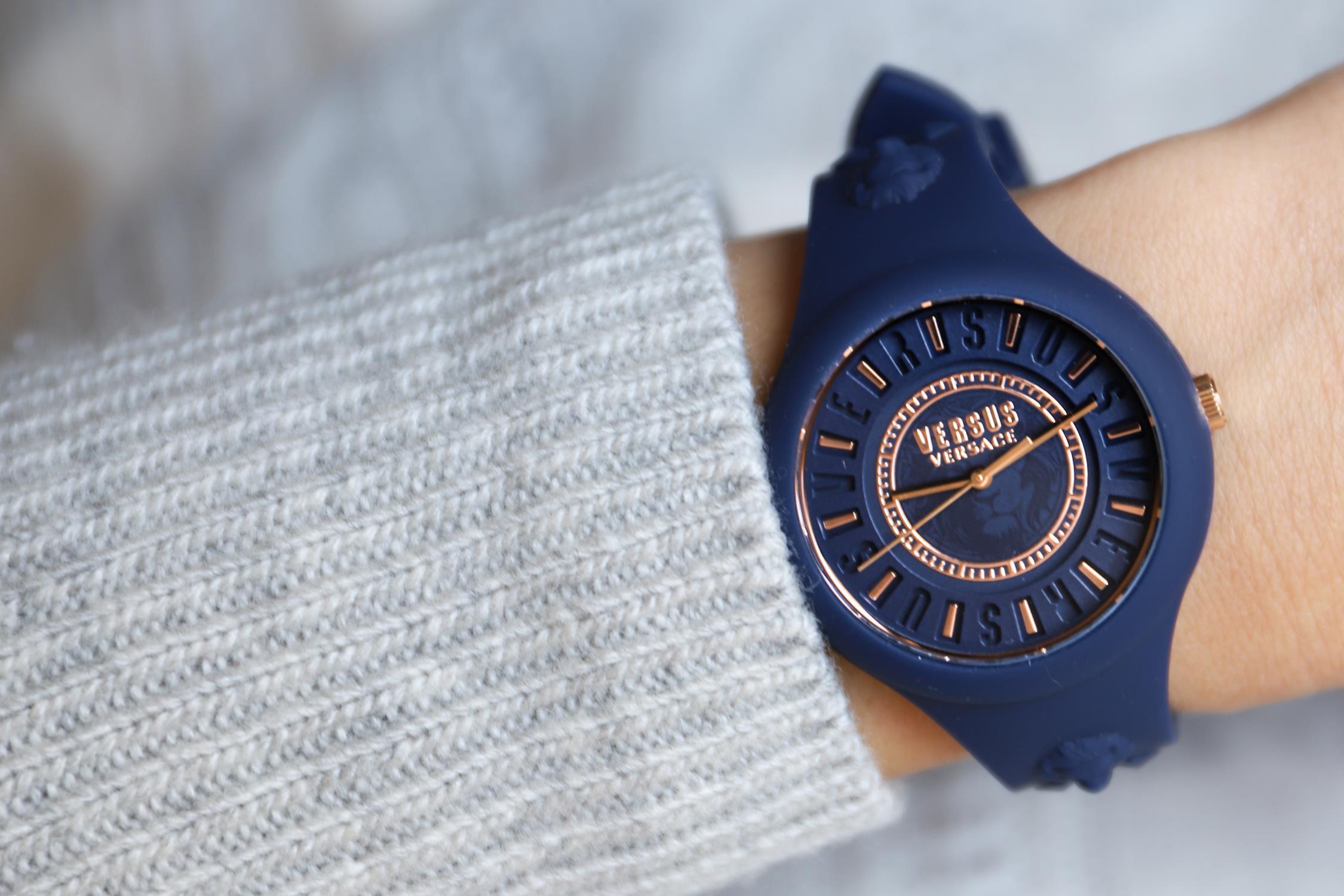 Versus Versace VSPOQ4019 zegarek niebieski fashion/modowy Damskie pasek