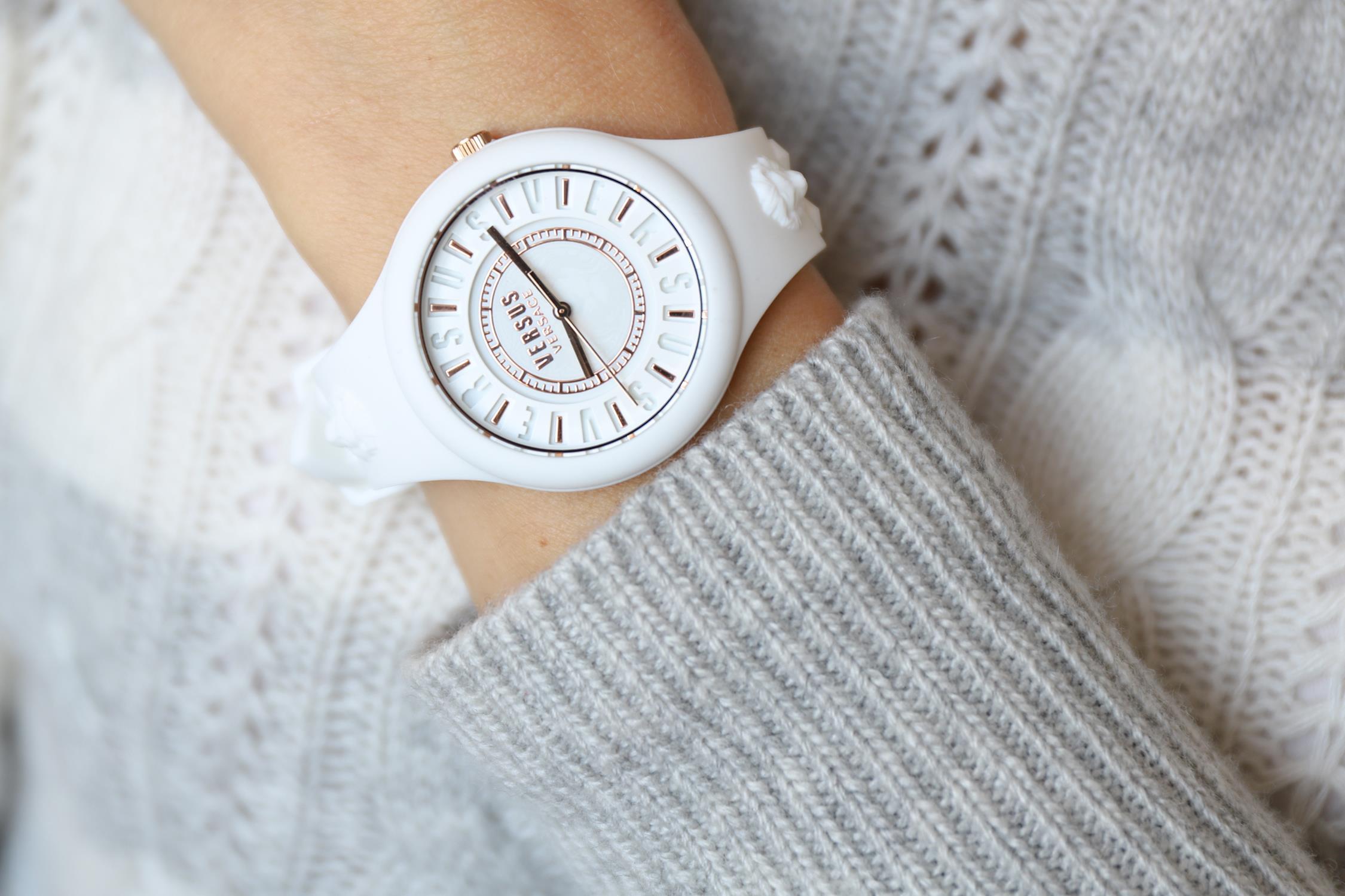 Versus Versace VSPOQ4219 zegarek biały fashion/modowy Damskie pasek