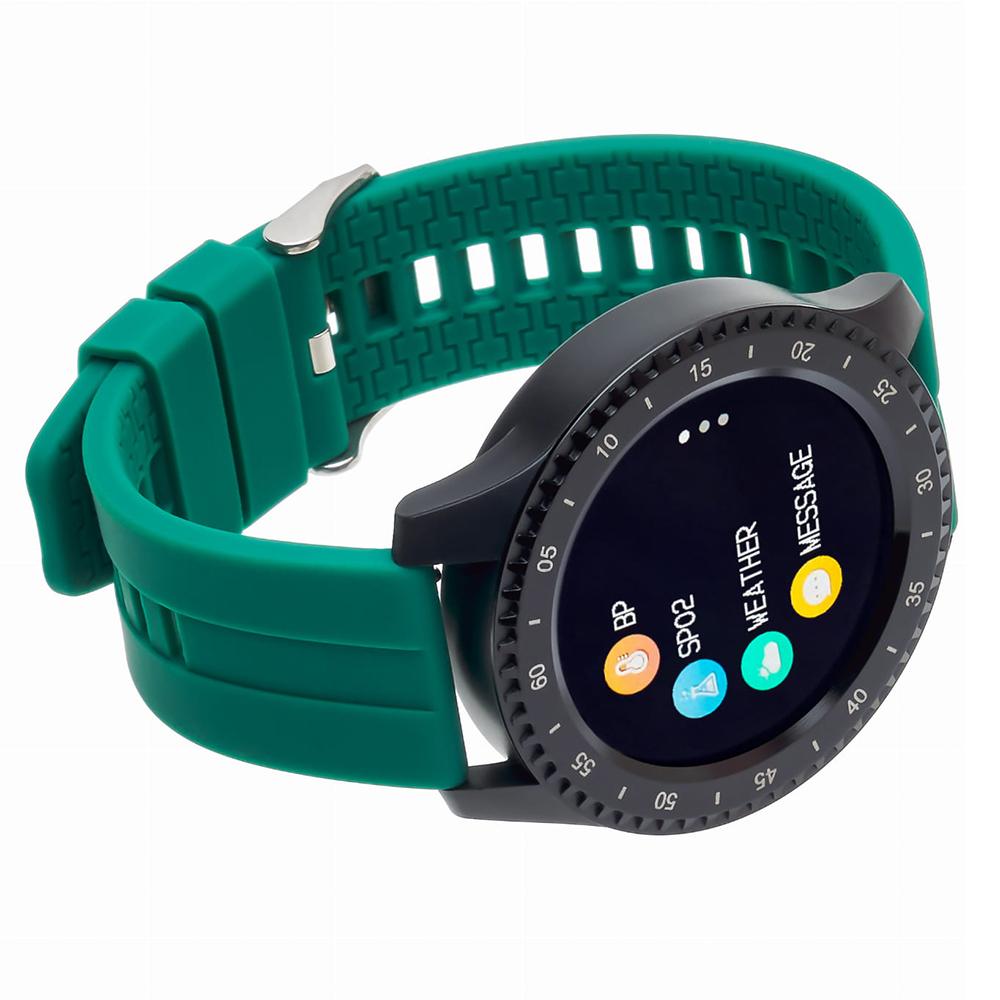 zegarek Garett 5903246289404 Smartwatch Garett Sport 12 RT Zielony męski z krokomierz Męskie