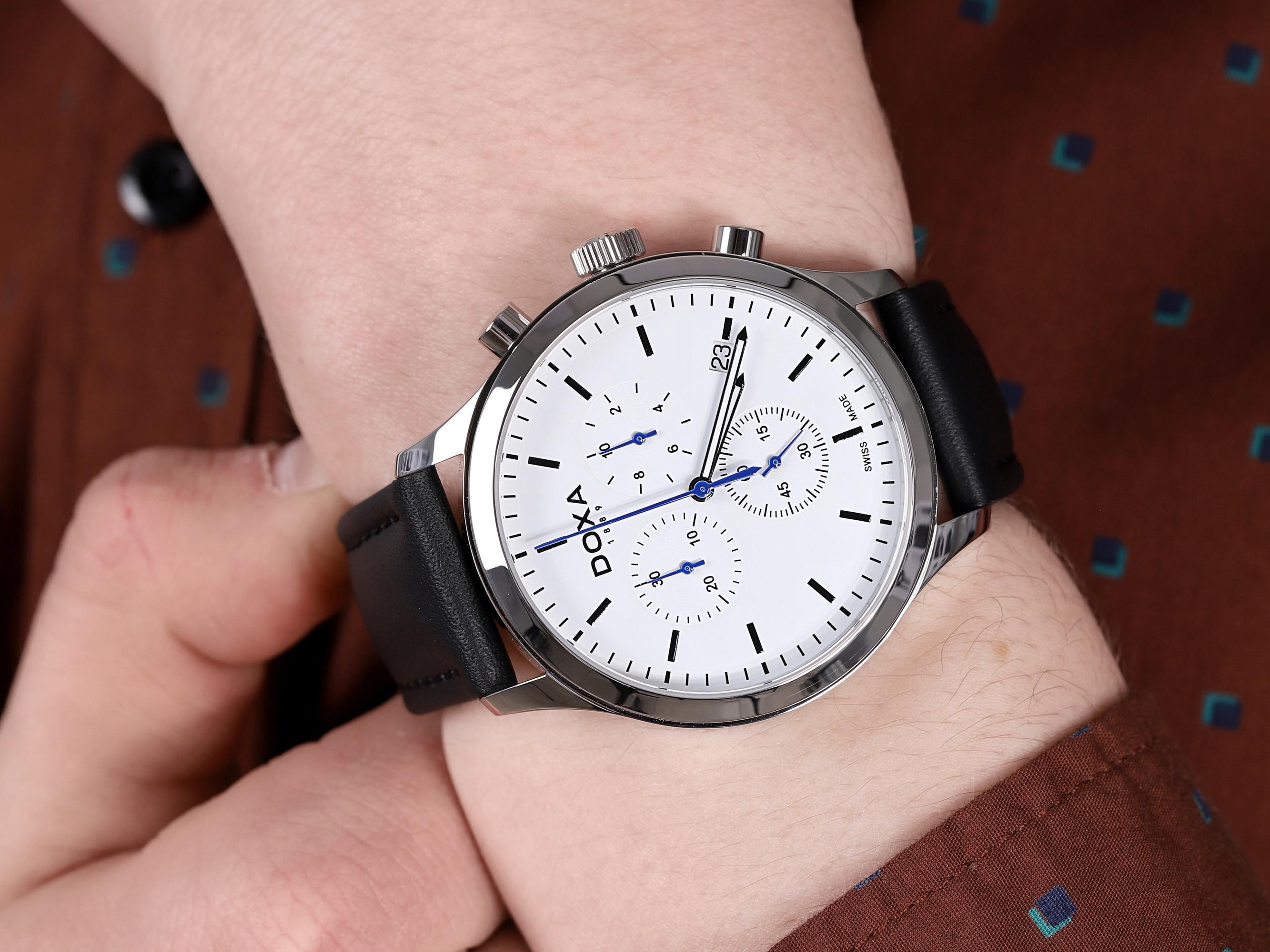 zegarek Doxa 165.10.015.01 męski z chronograf D-Chrono