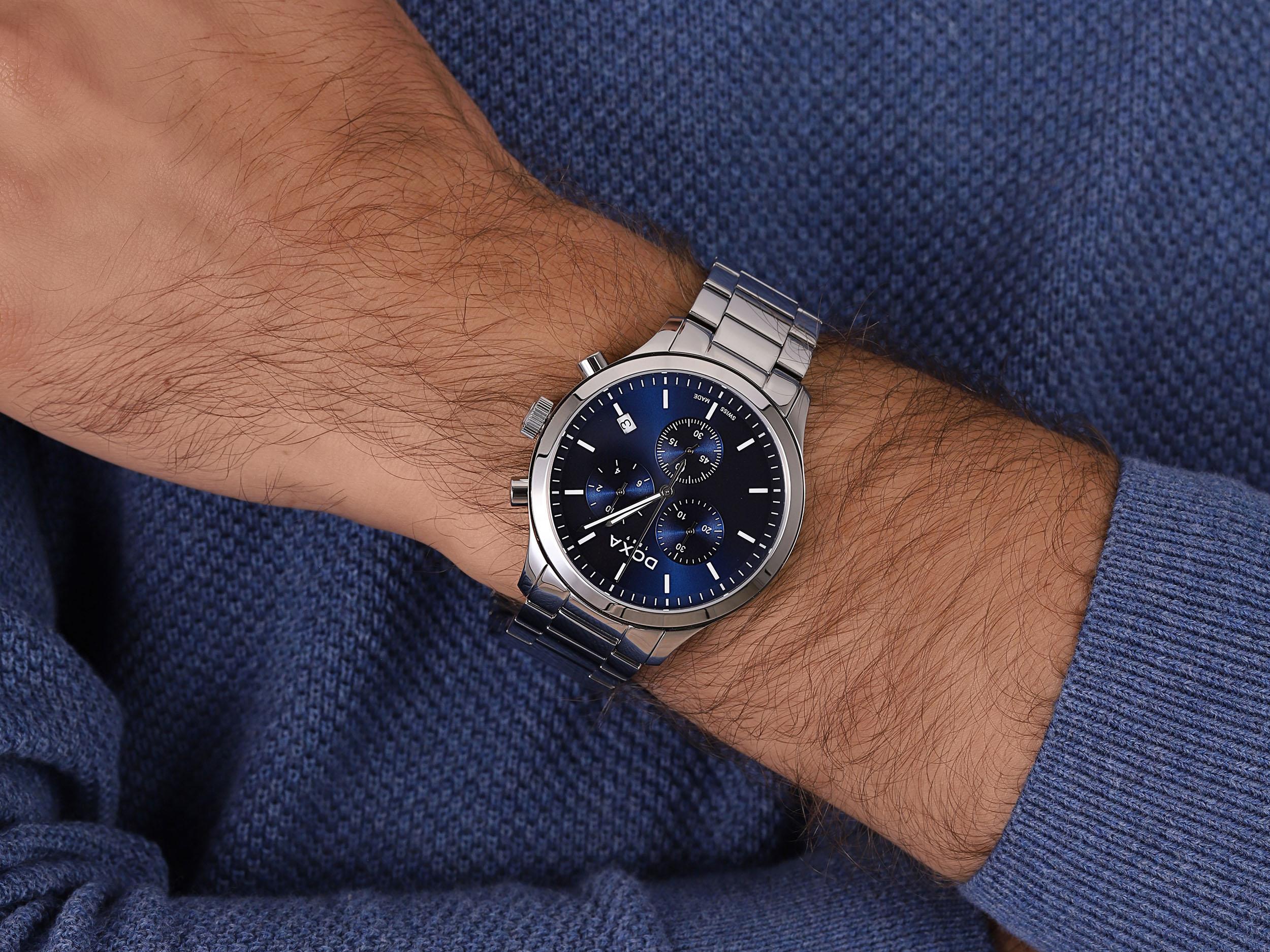 zegarek Doxa 165.10.201.10 męski z chronograf D-Chrono