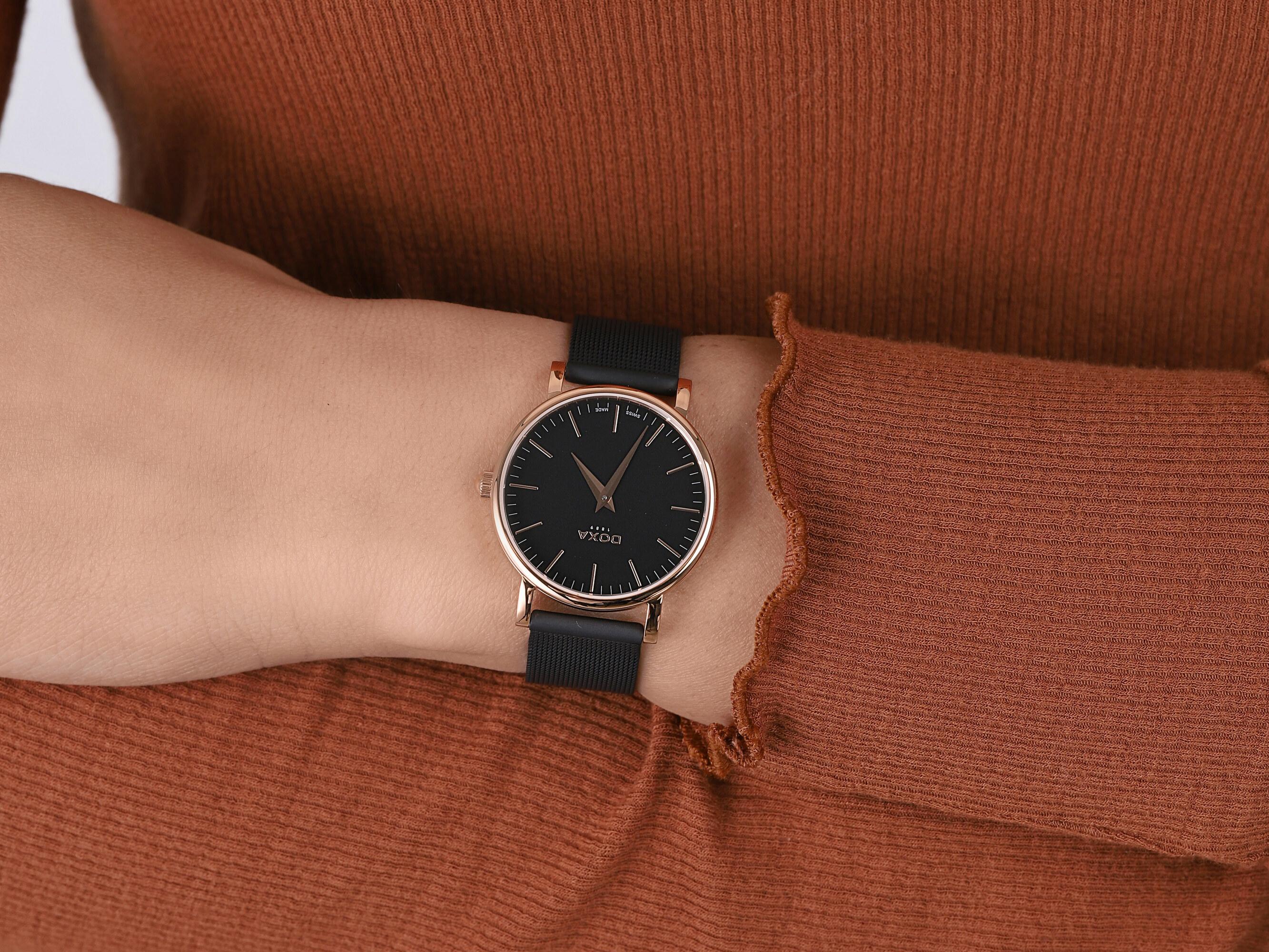 zegarek Doxa 173.95.101M.15 kwarcowy damski D-Light