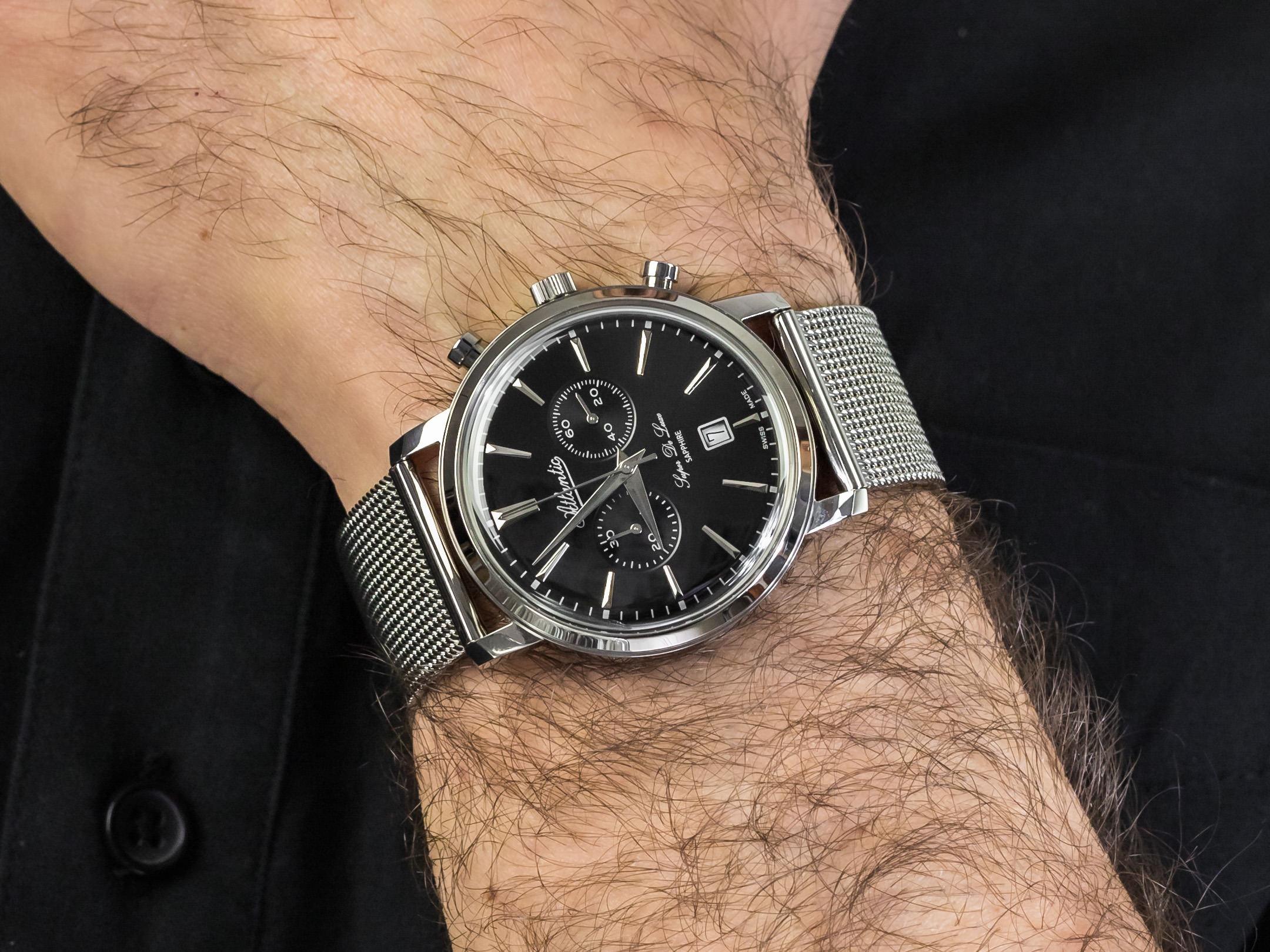 Atlantic 64456.41.61 zegarek elegancki Super De Luxe