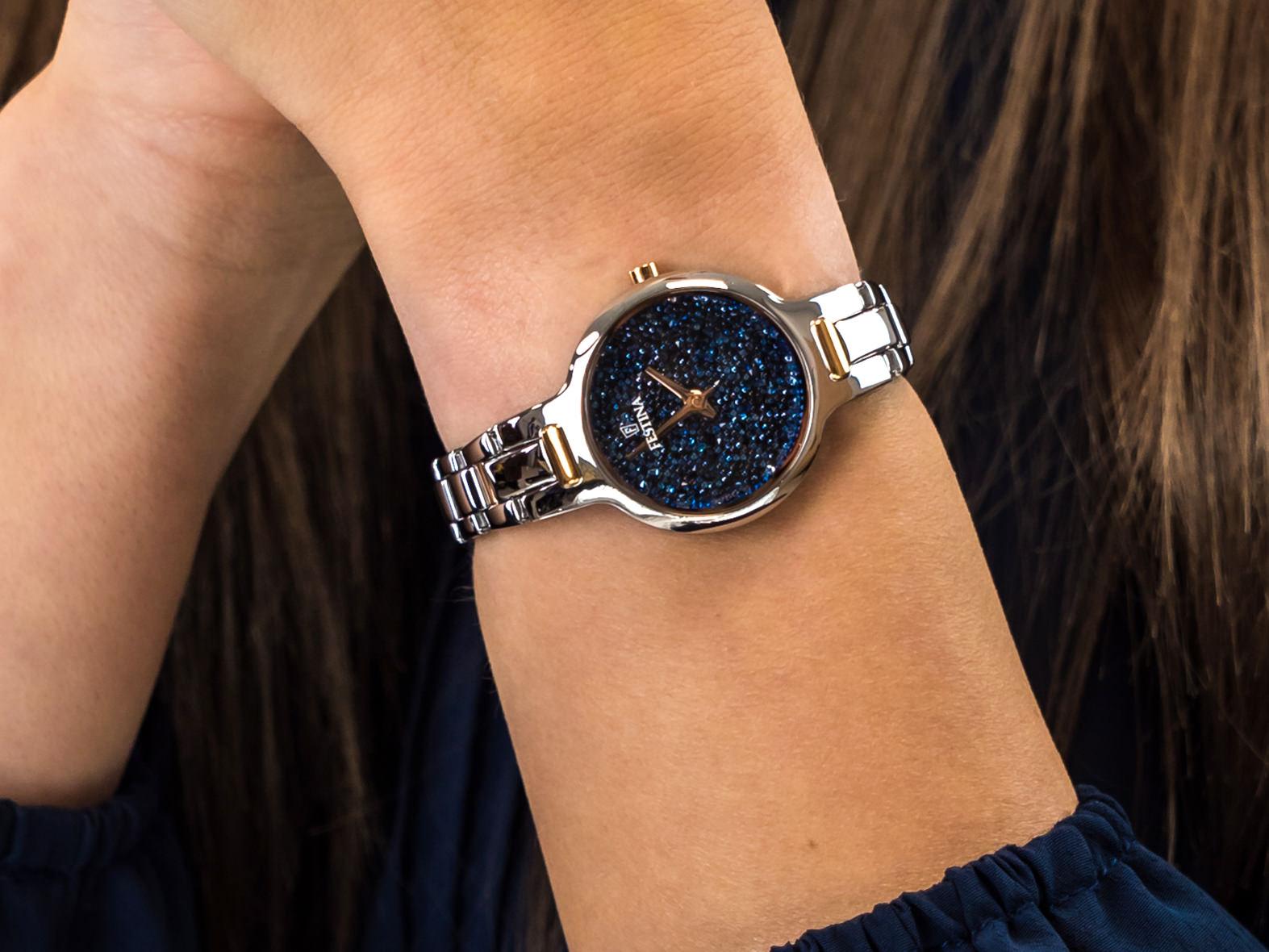 Festina F20381-2 Mademoiselle Swarovski zegarek elegancki Mademoiselle