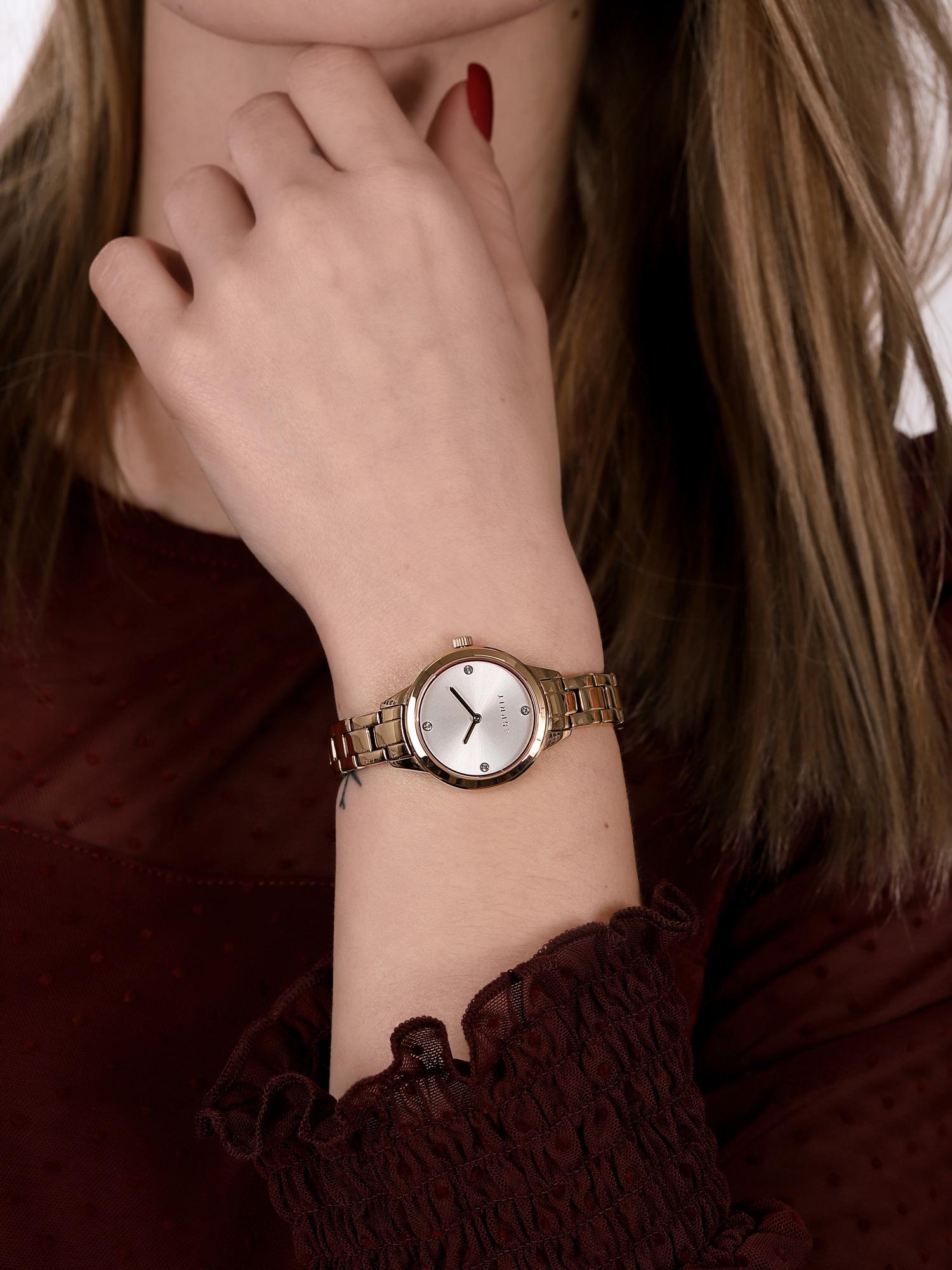 zegarek Esprit ES108992002 różowe złoto Damskie