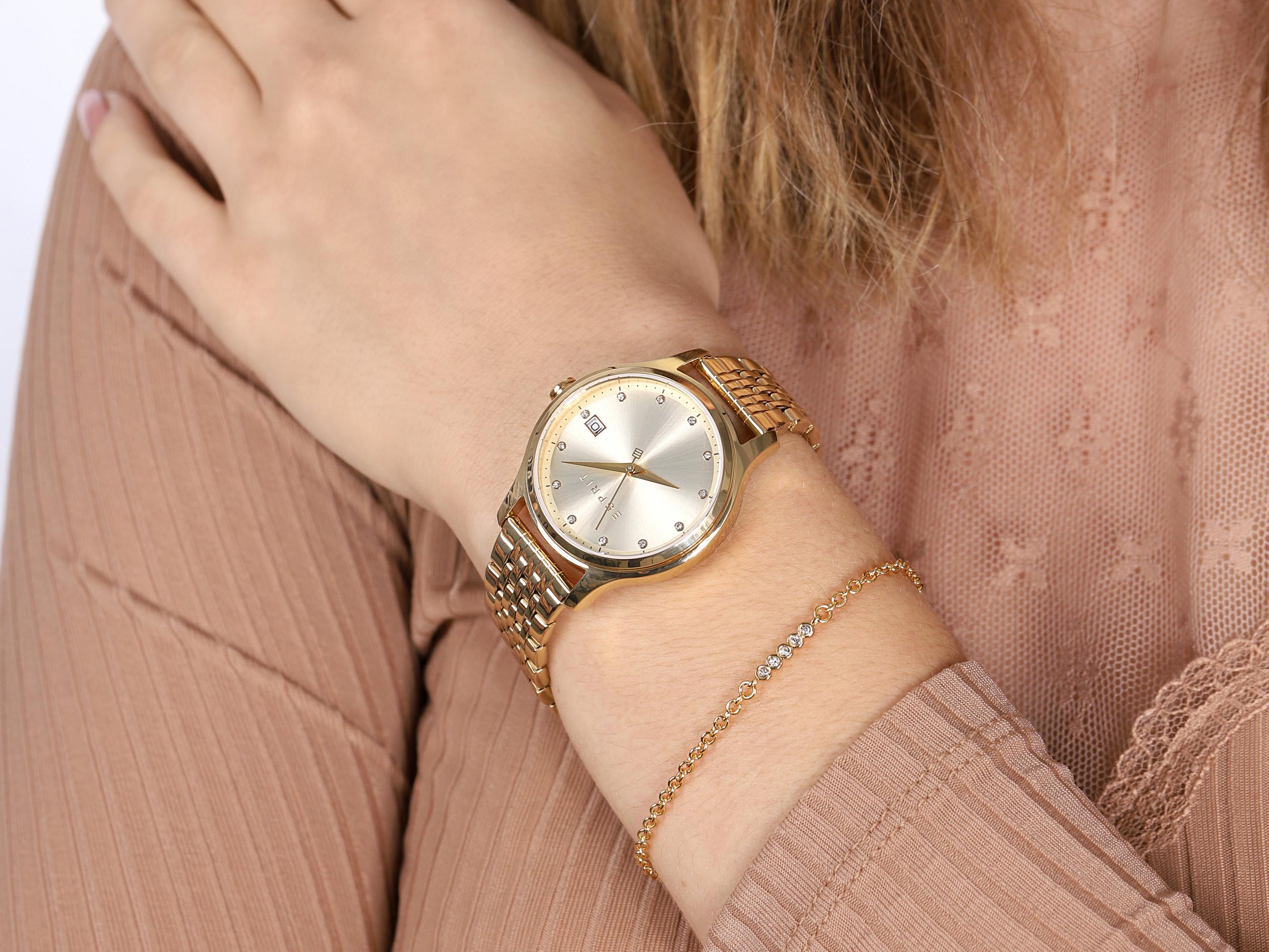 zegarek Esprit ES1L198M0075 złoty Damskie