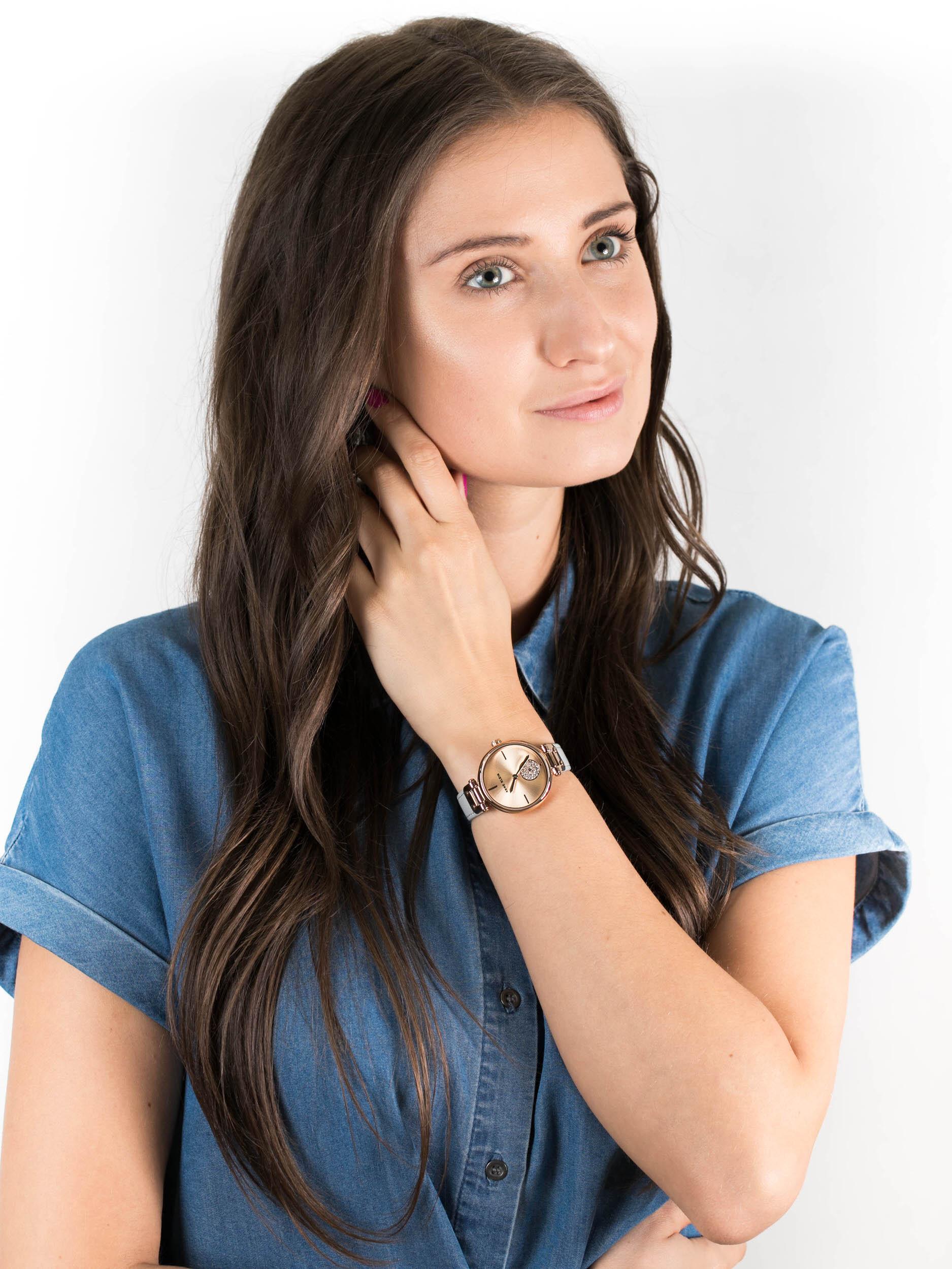 Anne Klein AK-3380RGLG zegarek damski Pasek