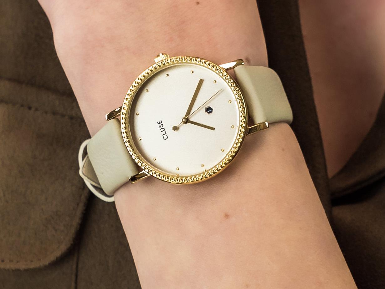 Cluse CL63005 Gold/Gold Dust zegarek fashion/modowy Le Couronnement