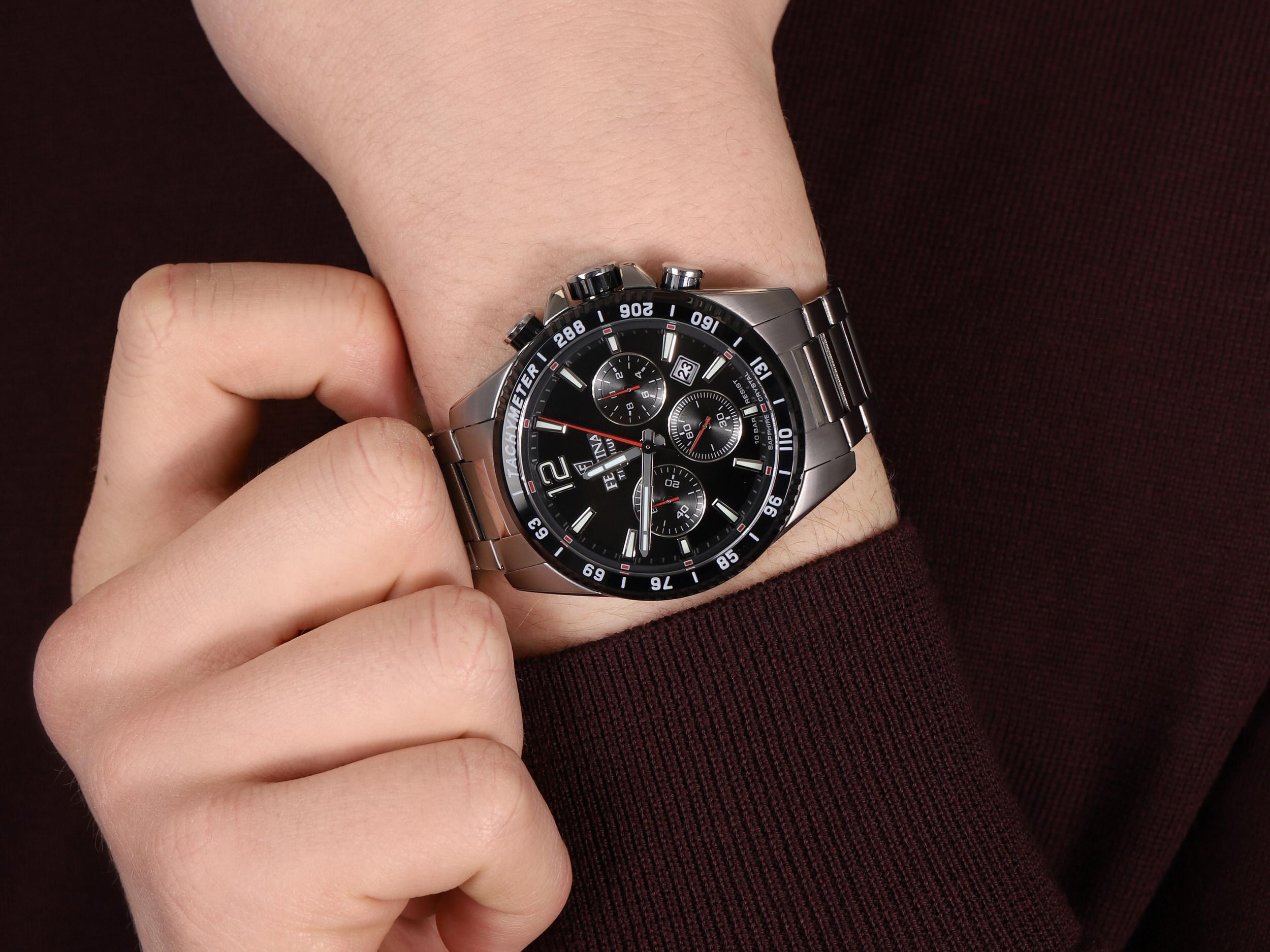 zegarek Festina F20520-4 Titanium Sport Chrono Sapphire męski z tachometr Titanium