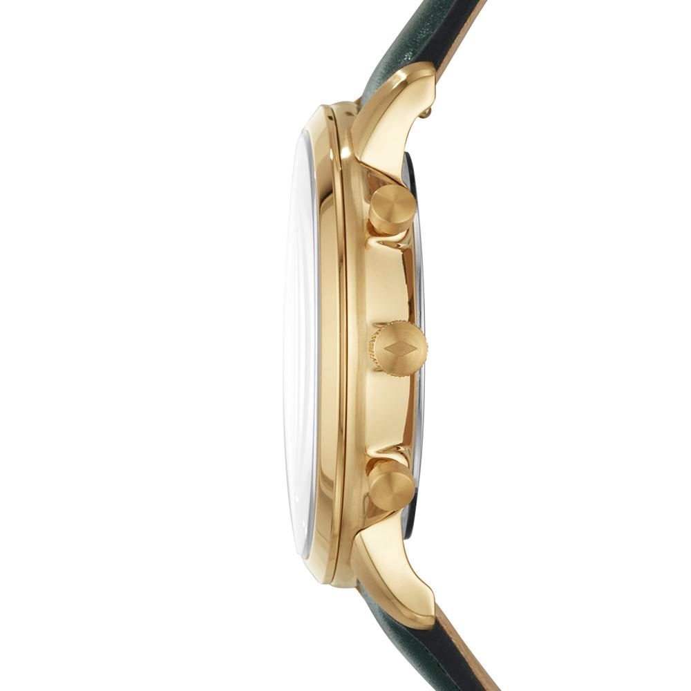 Fossil FS5580 zegarek złoty klasyczny Neutra pasek