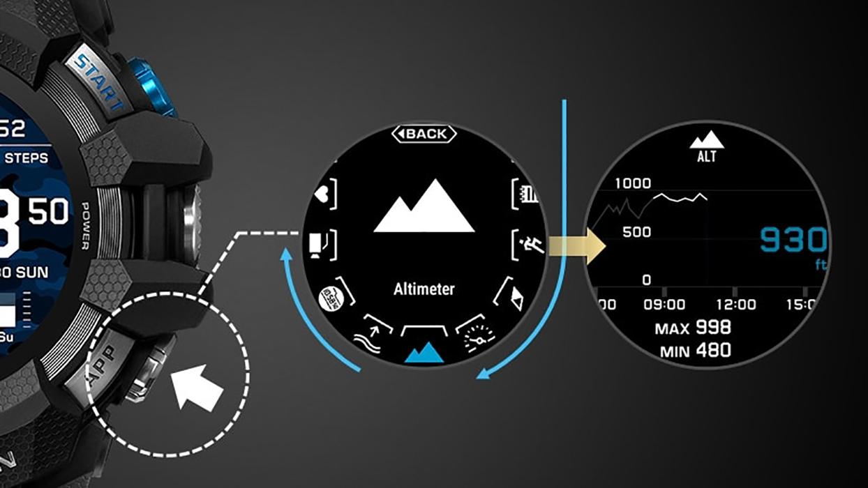 zegarek G-SHOCK GSW-H1000-1A4ER czarny Beside