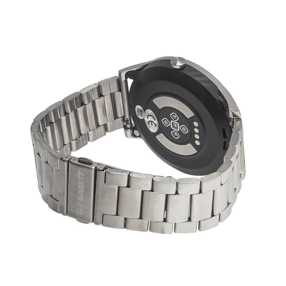 zegarek Garett 5903246287295 Smartwatch Garett GT22S RT srebrny stalowy męski z krokomierz Męskie
