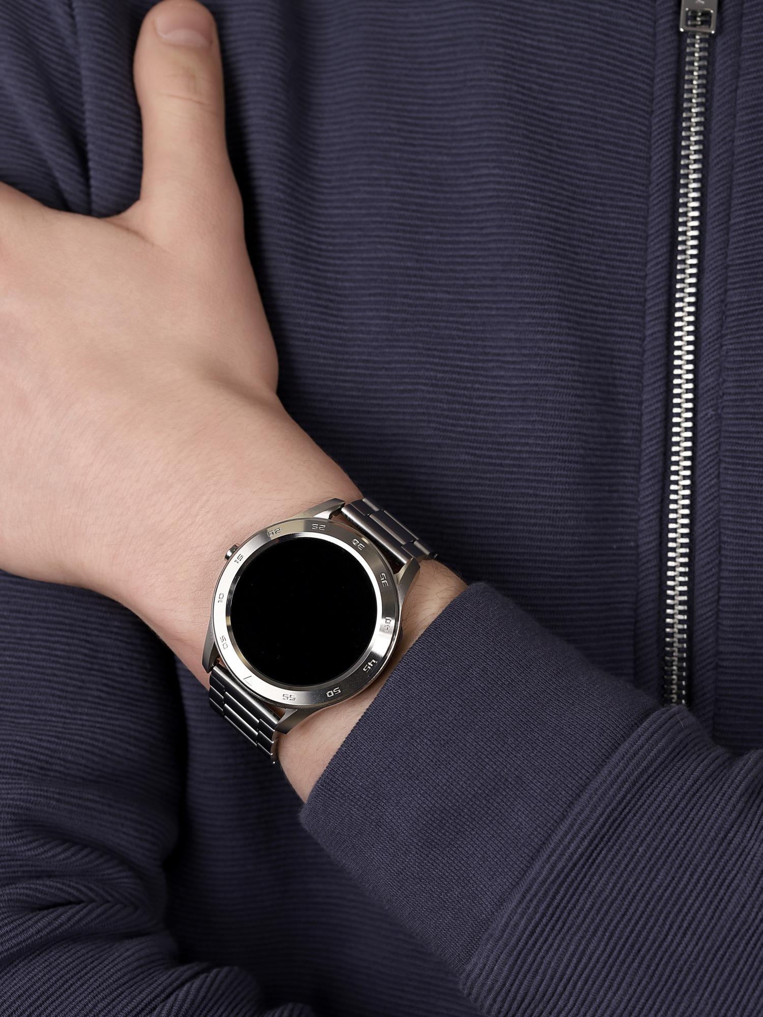 zegarek Garett 5903246287295 kwarcowy męski Męskie Smartwatch Garett GT22S RT srebrny stalowy