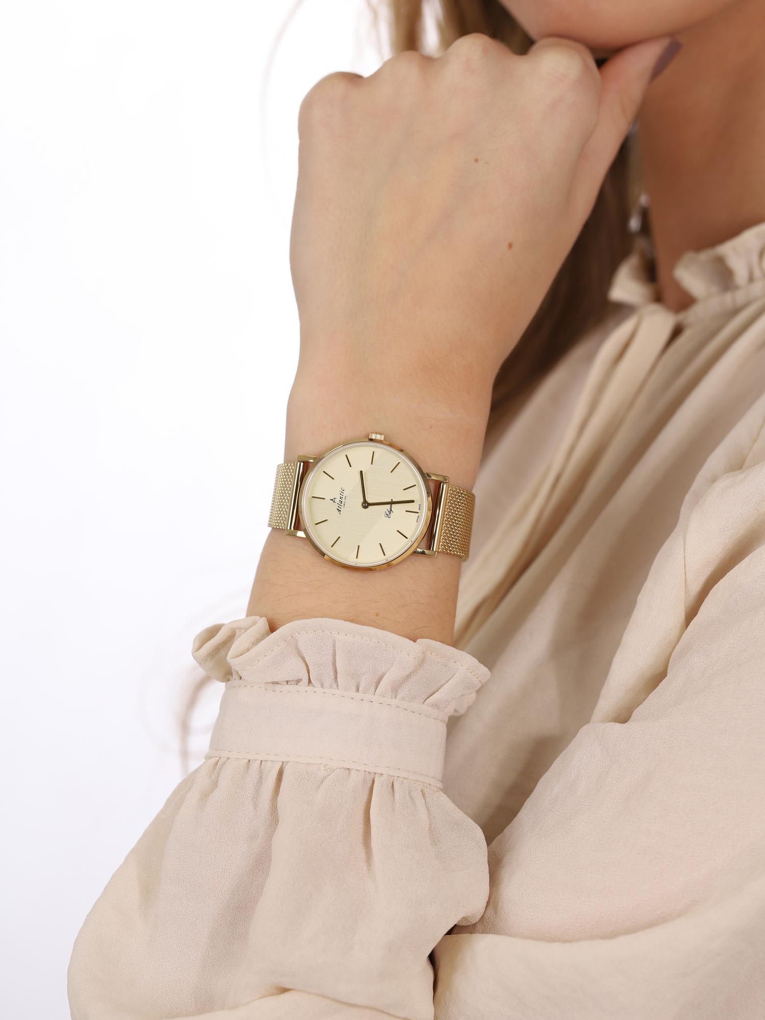 Atlantic 29043.45.31MB damski zegarek Elegance bransoleta