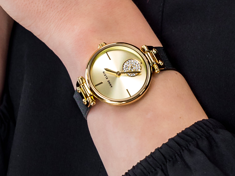 Anne Klein AK-3001CHBK zegarek klasyczny Bransoleta