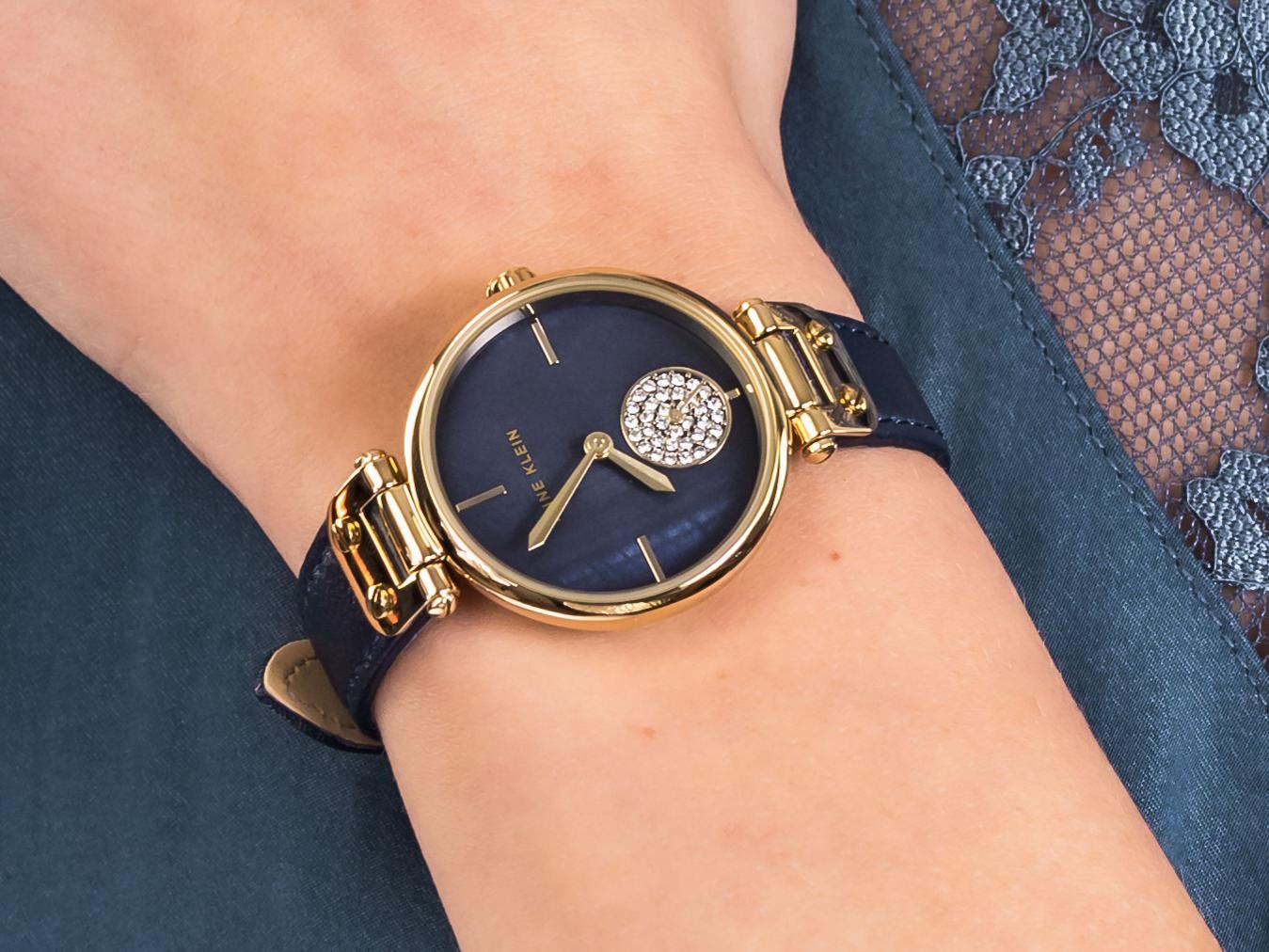 Anne Klein AK-3380NMNV zegarek klasyczny Pasek