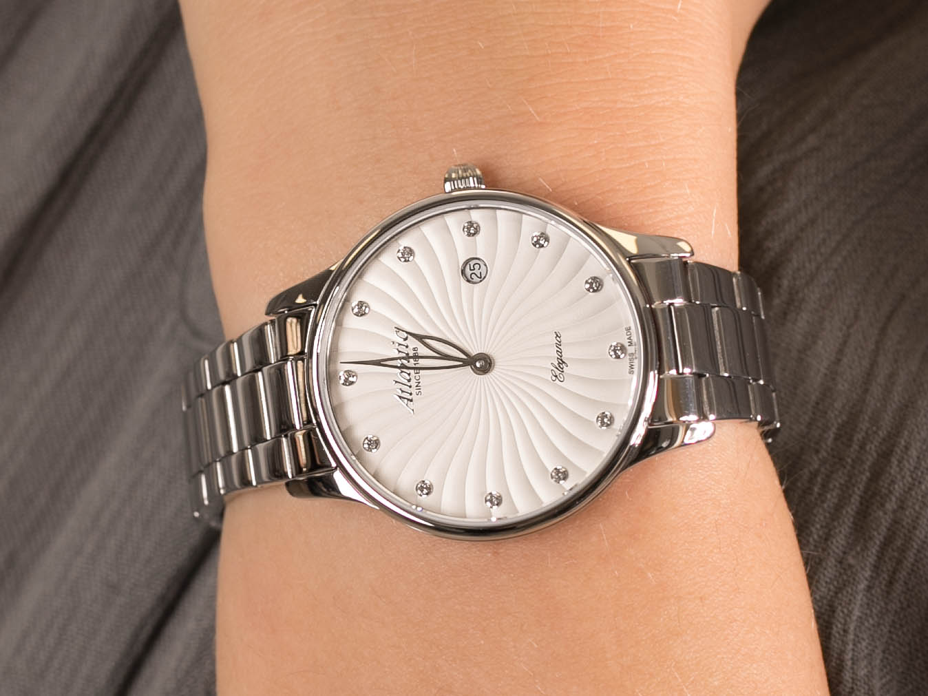 Atlantic 29142.41.27MB zegarek klasyczny Elegance