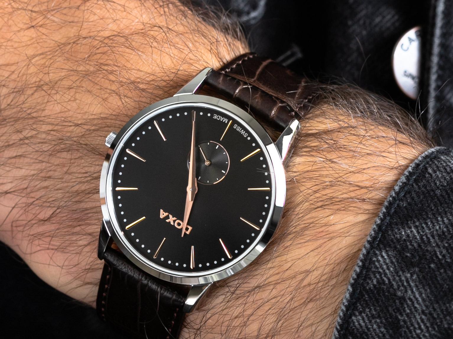 Doxa 105.10.101R.02 zegarek klasyczny Slim Line