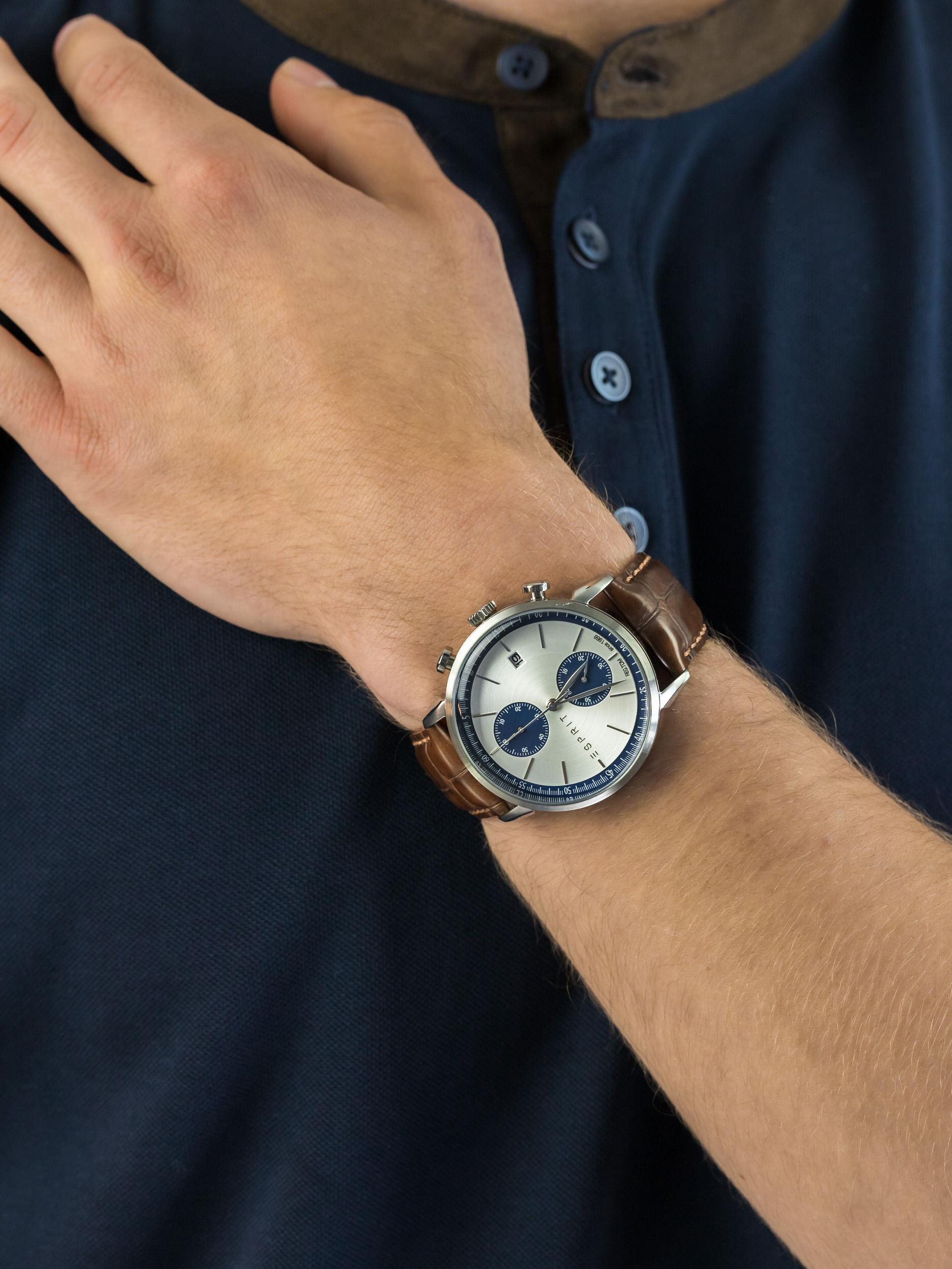 zegarek Esprit ES109181001 męski z chronograf Męskie