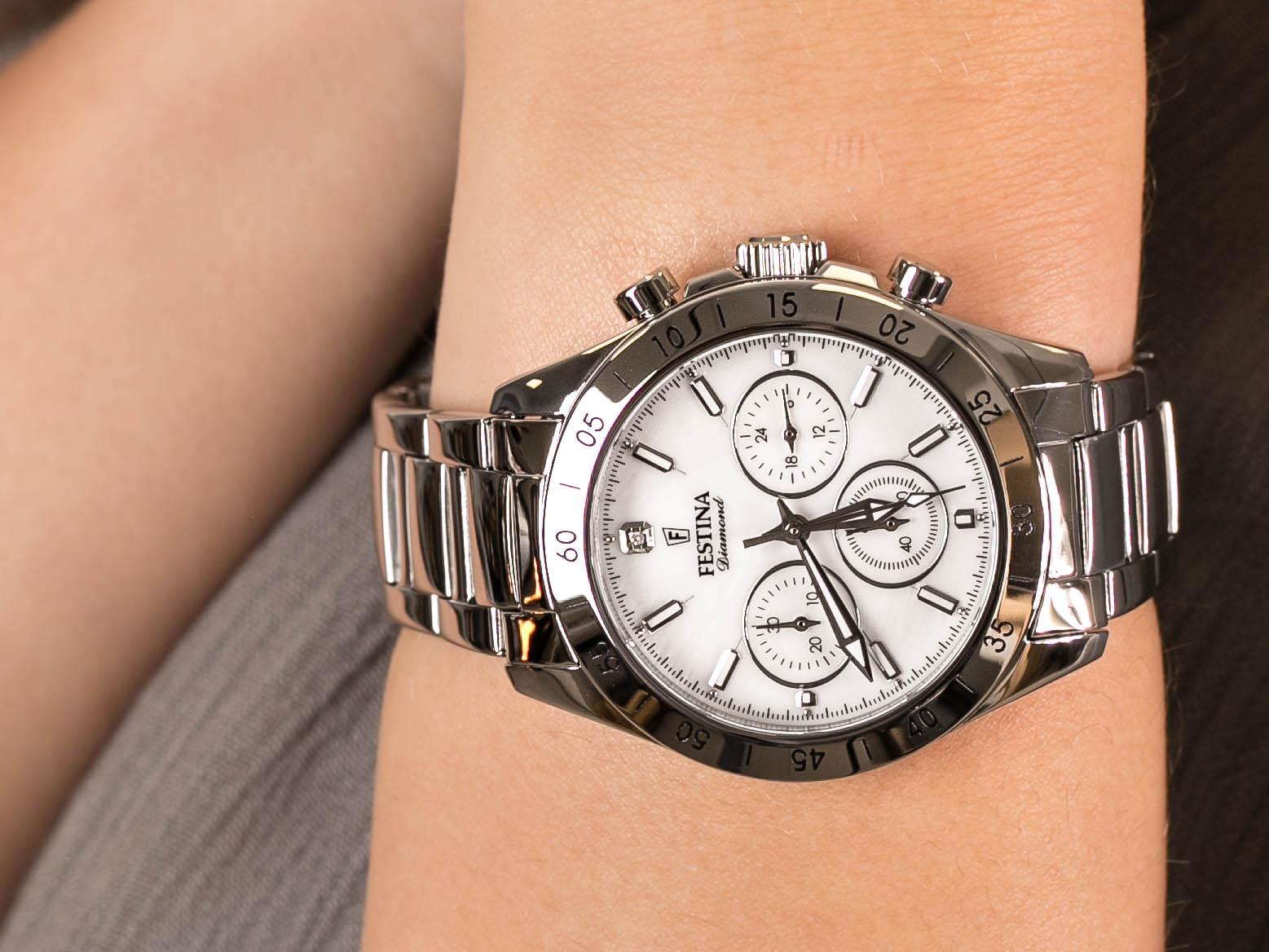 Festina F20397-1 Boyfriend Chronograph zegarek klasyczny Chronograf