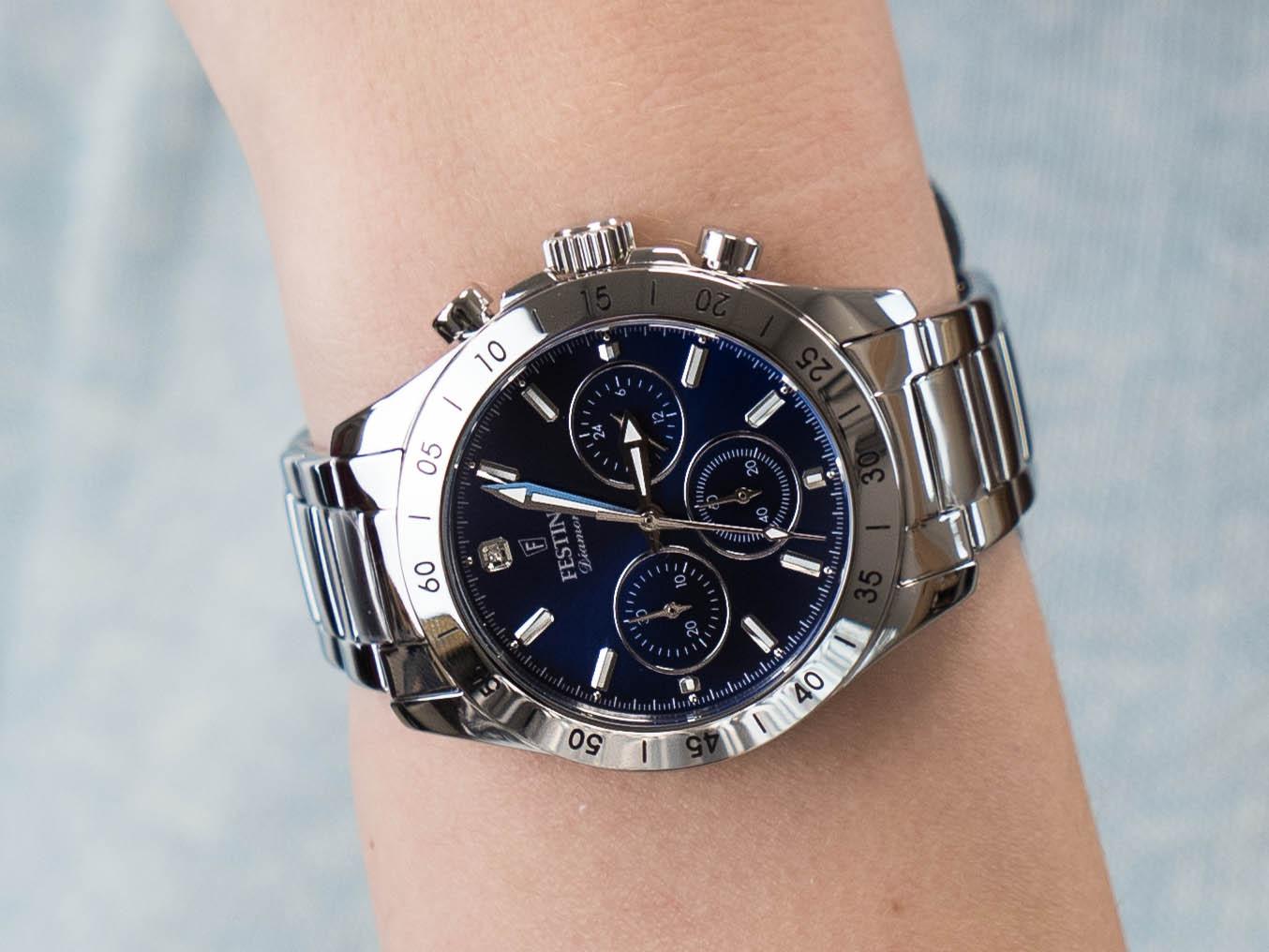 Festina F20397-2 Boyfriend Chronograph zegarek klasyczny Chronograf