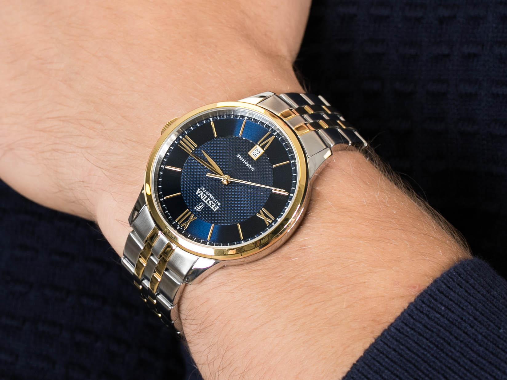 Festina F20483-2 Sapphire Automatic zegarek klasyczny Classic