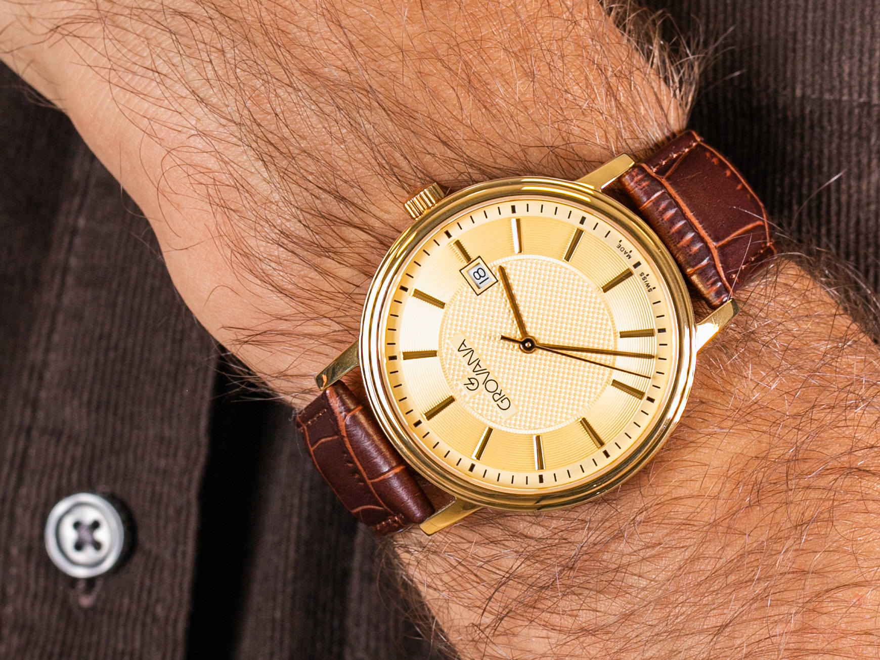 Grovana 1550.1511 zegarek klasyczny Pasek